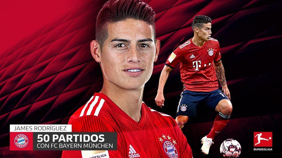 ¡James cumple 50 partidos con Bayern!