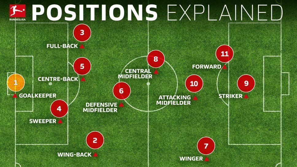 Bundesliga | Soccer positions explained: names, numbers and what they do
