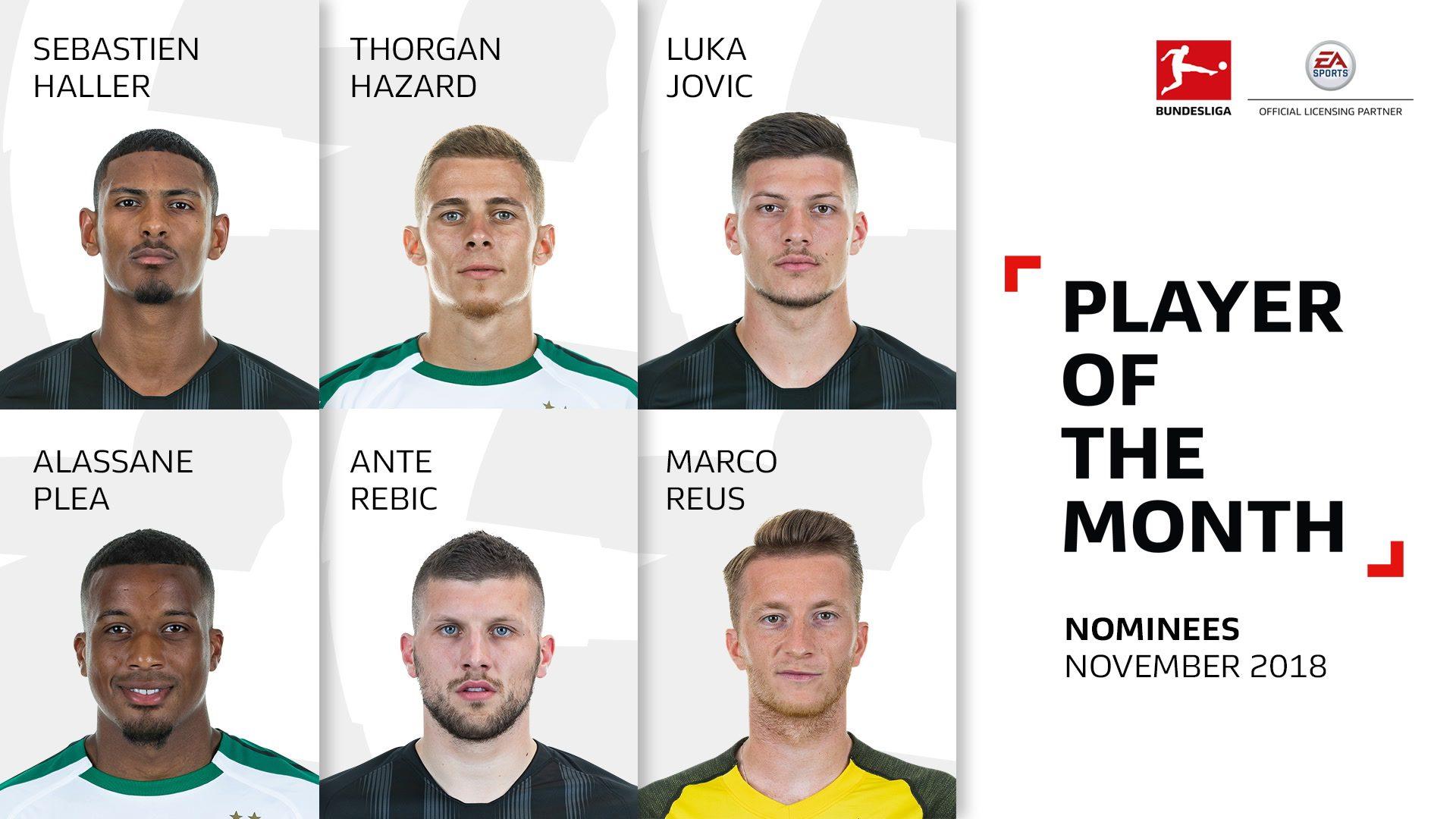 Watch: Bundesliga Player of the Month: November candidates