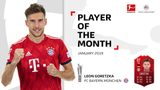Leon Goretzka named Bundesliga Player of the Month