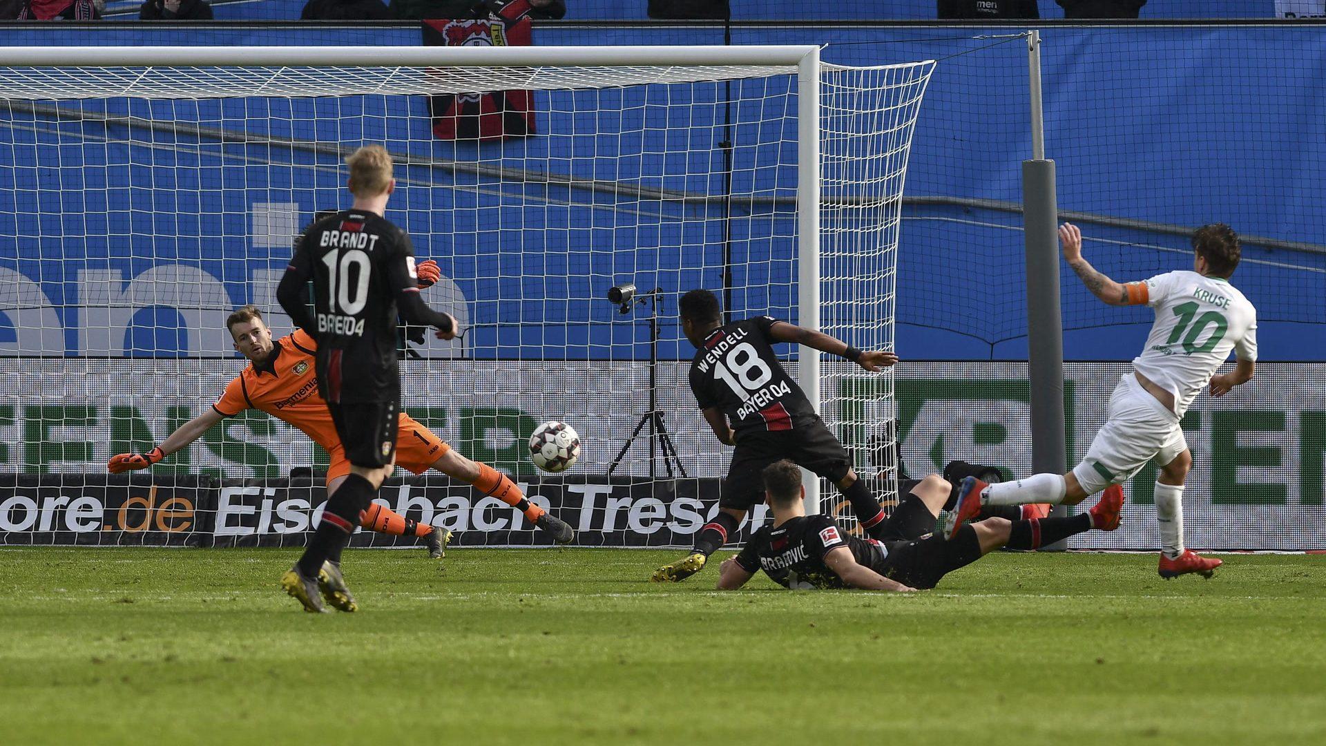 Max Kruse trumpft gegen Bayer Leverkusen auf