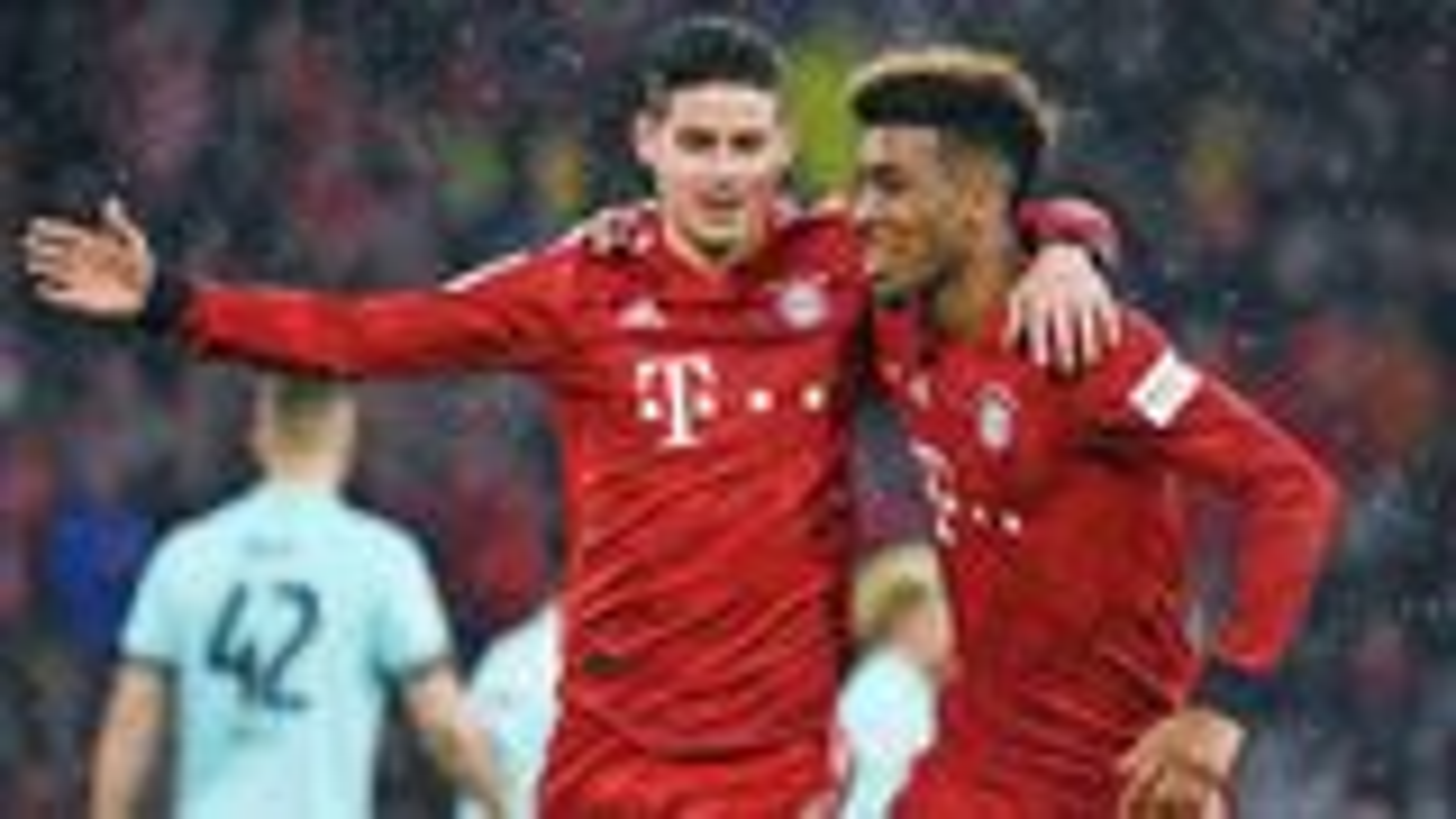 James hat-trick and milestone Davies goal send Bayern top