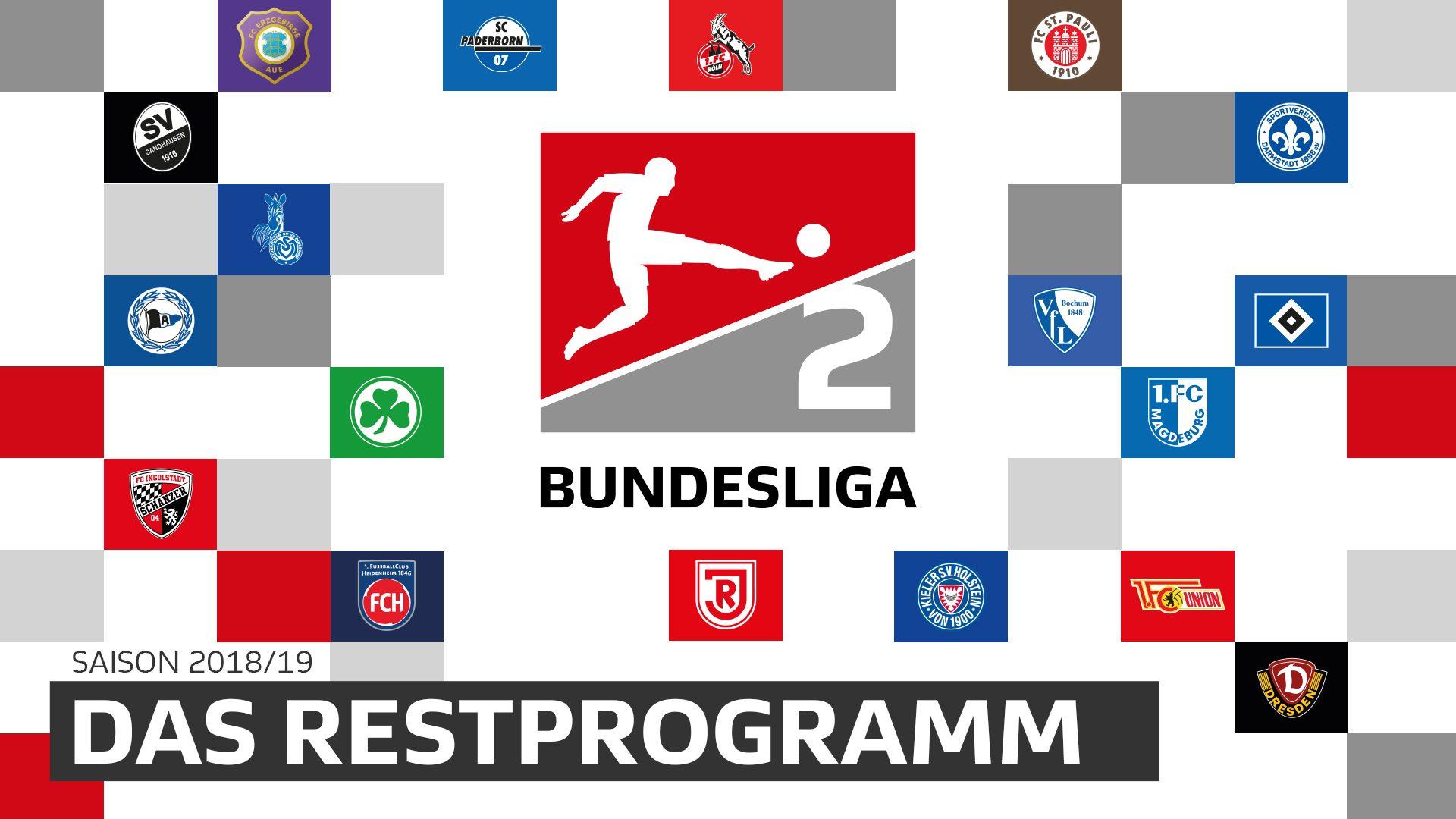 Das Restprogramm der Clubs in der 2. Bundesliga