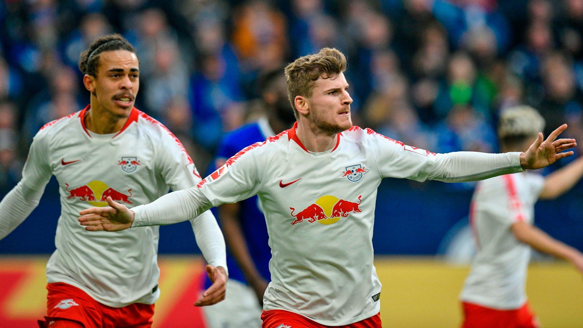 Werner strikes at Schalke as Leipzig win away again