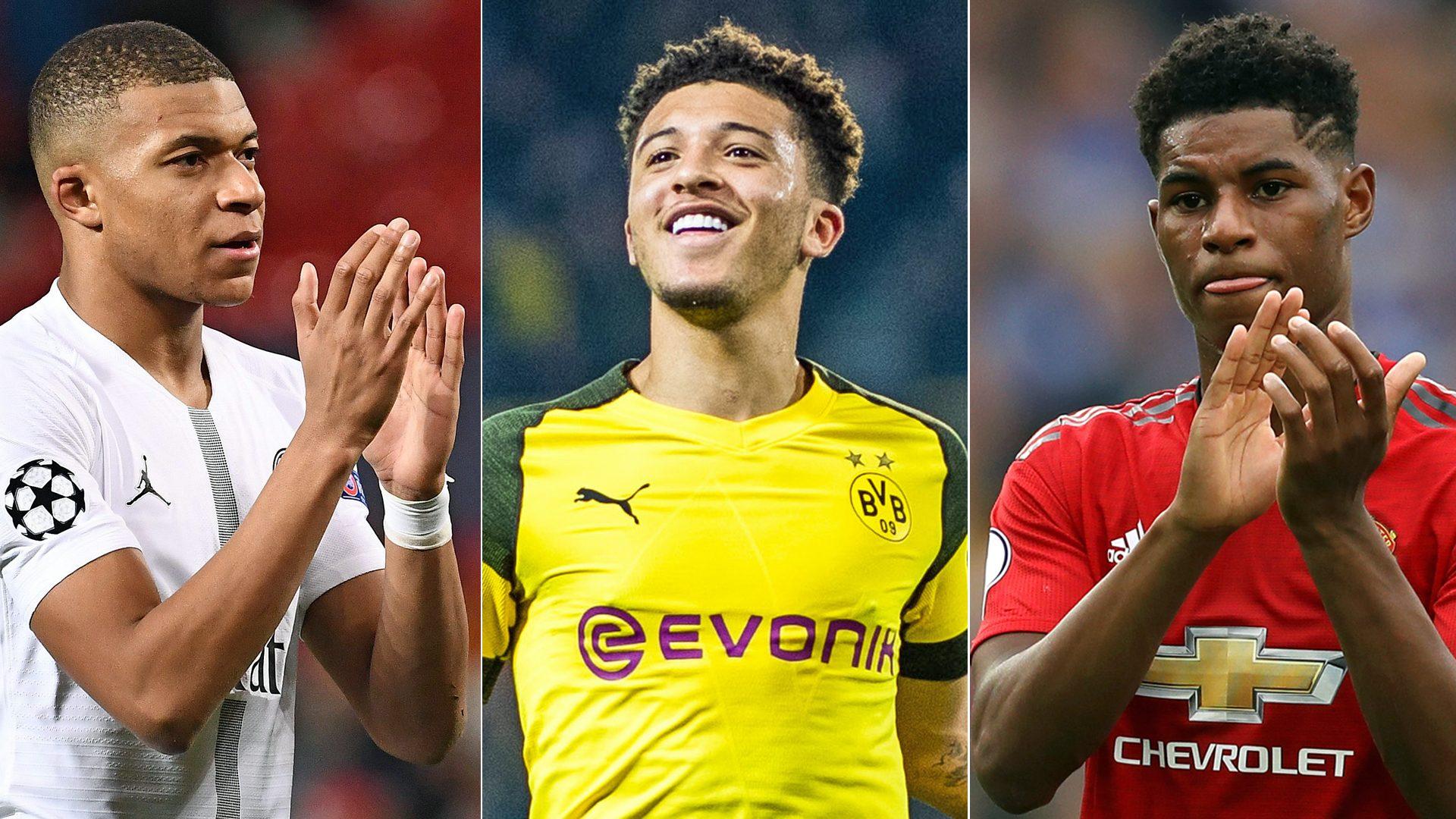 Bundesliga Borussia Dortmund S Jadon Sancho I Watch Mbappe And Rashford I M Sure They Watch Me Too