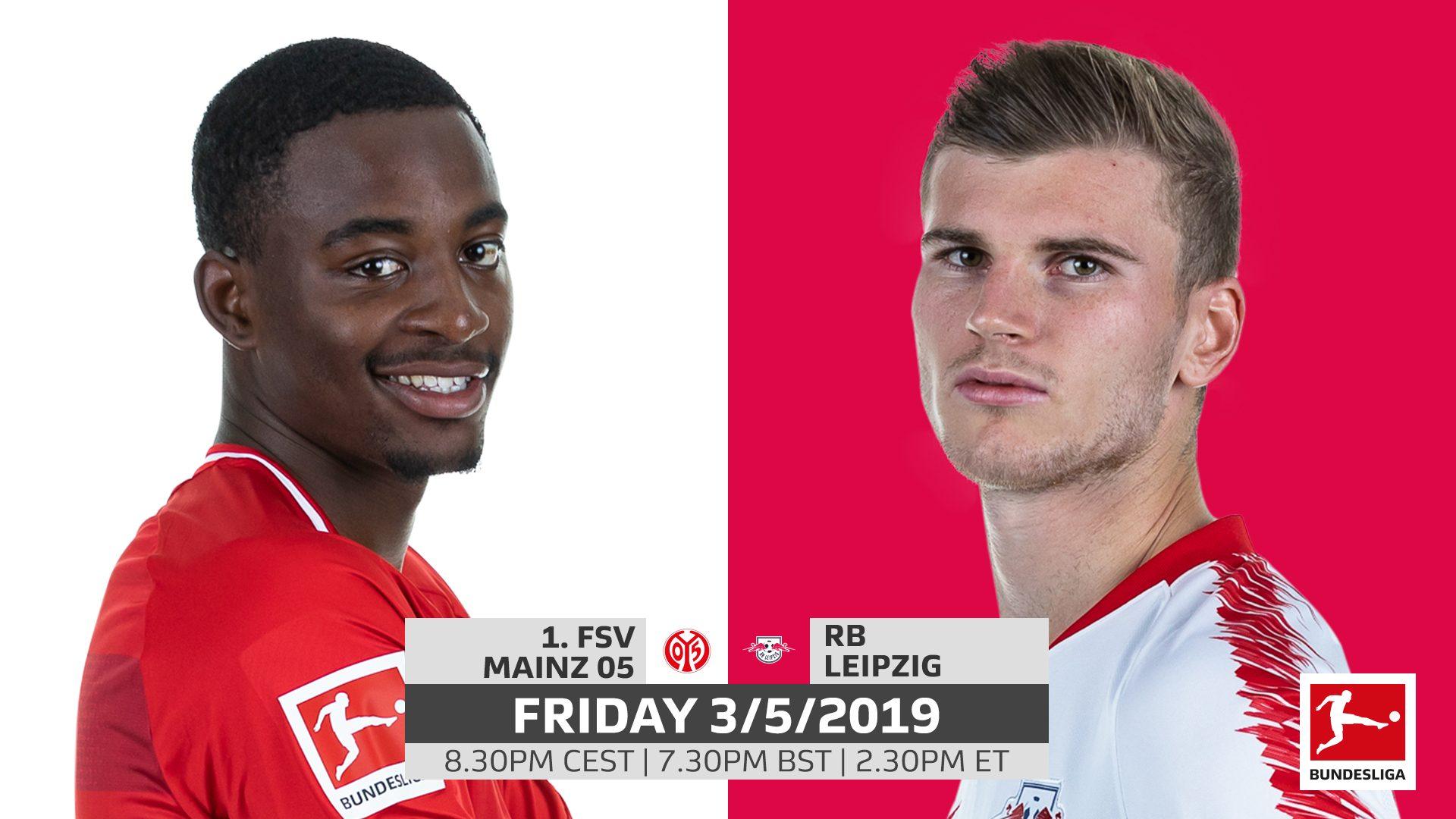 Mainz vs. RB Leipzig: probable line-ups, match stats and LIVE blog!