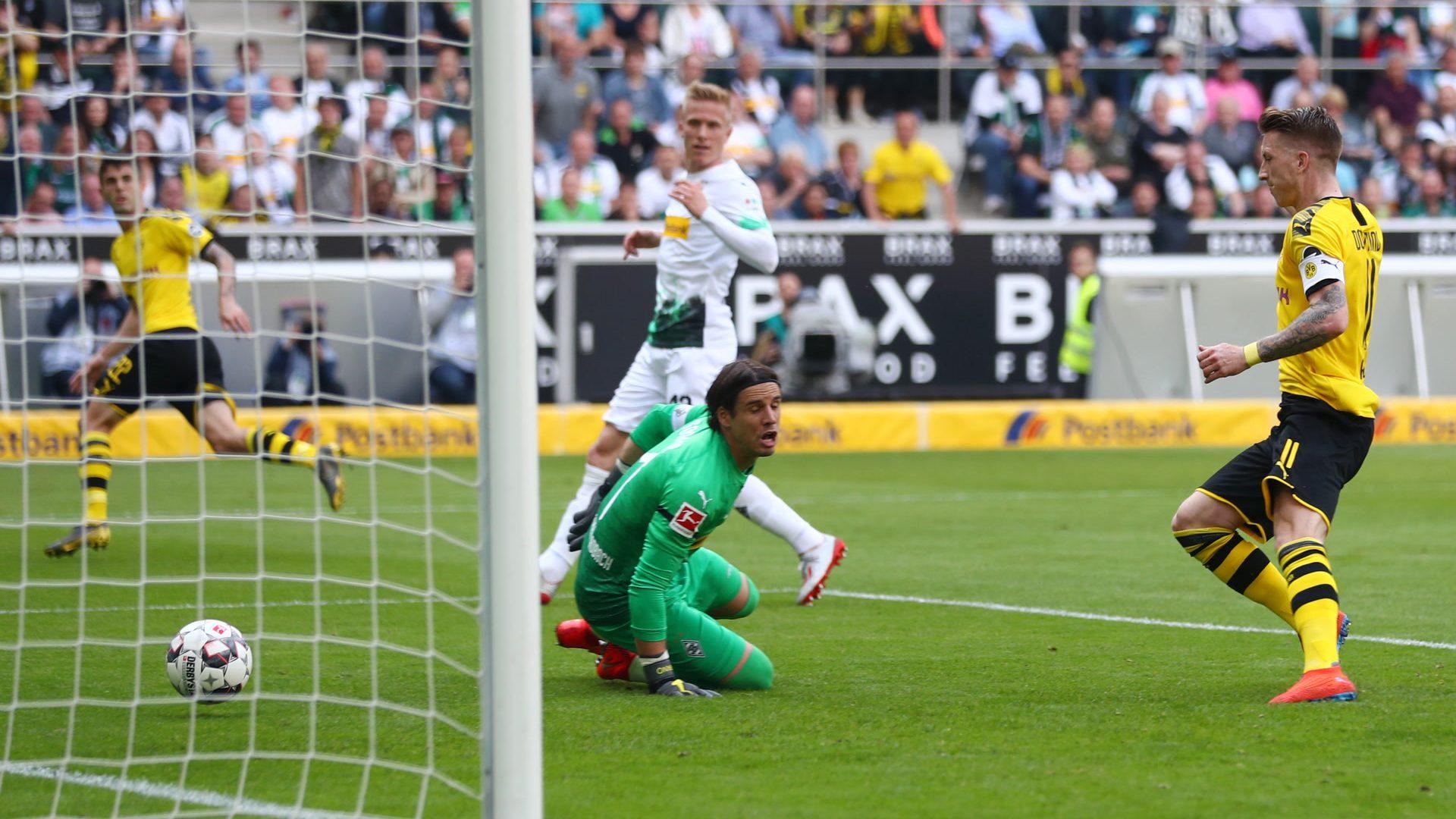Dortmund gewinnt in Gladbach und ist Vizemeister