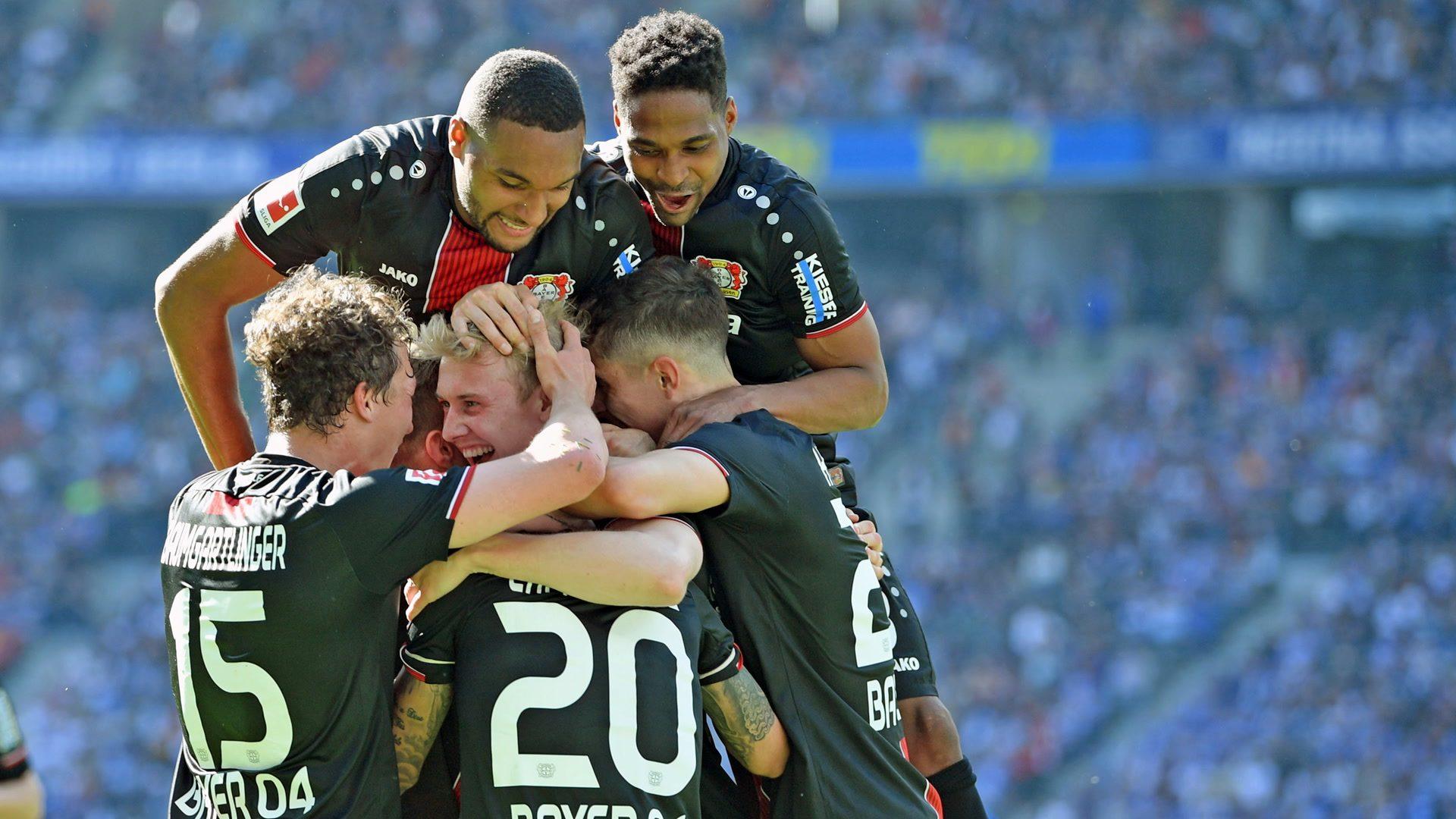 Leverkusen hammer Hertha to snatch Champions League spot