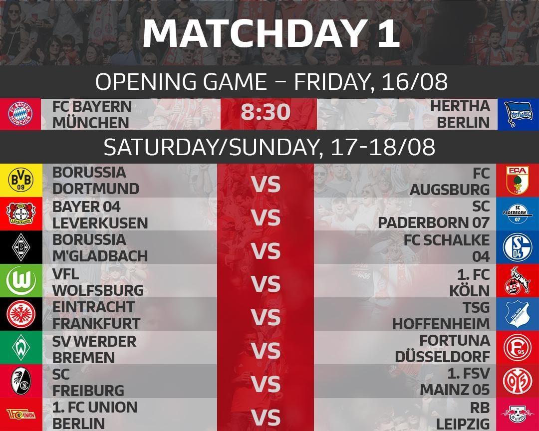 Bundesliga 2019 20 Fixtures Bundesliga Opener Between Bayern Munich And Hertha Berlin Bundesliga 2 Starts With Vfb Stuttgart Against Hannover