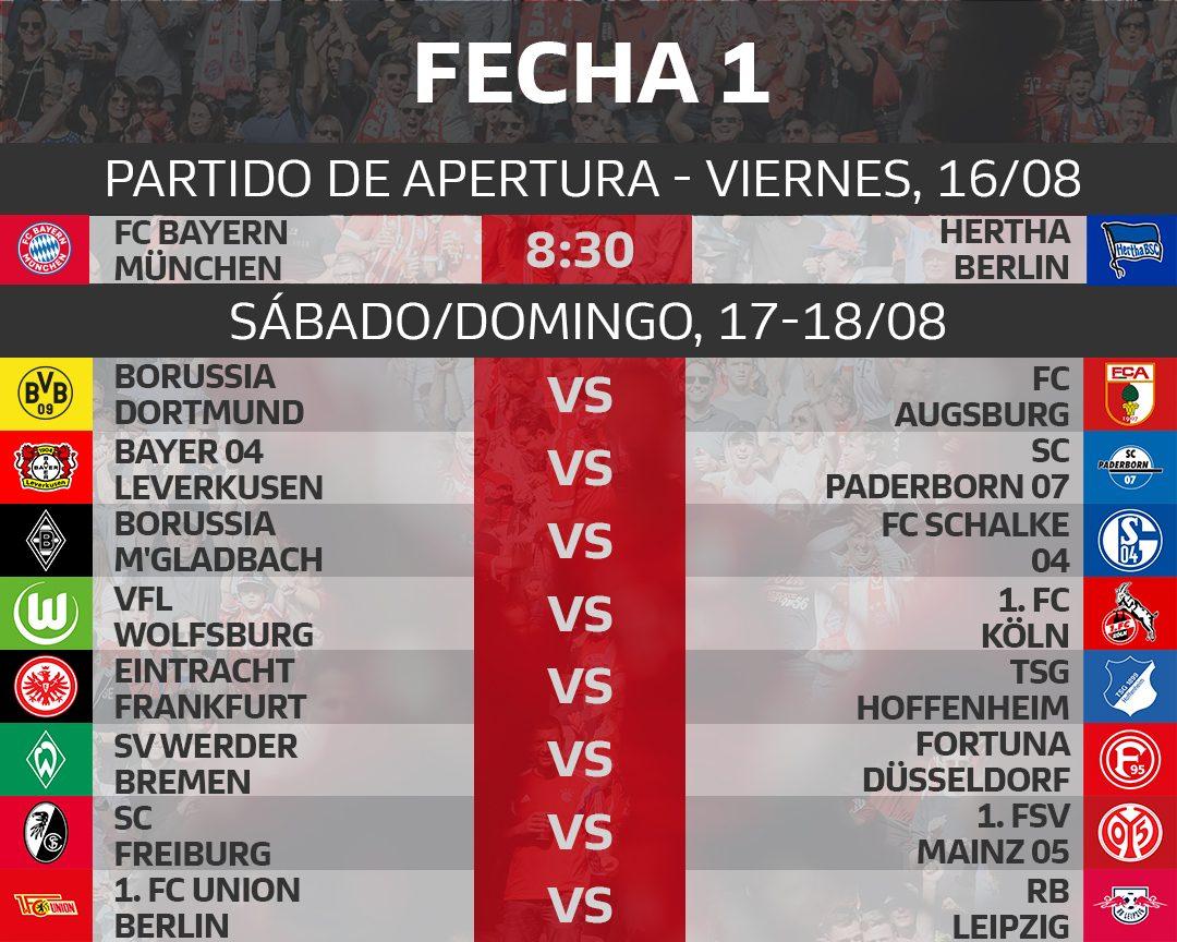 Bundesliga Calendario.Bundesliga Este Es El Calendario De La Bundesliga 2019 20