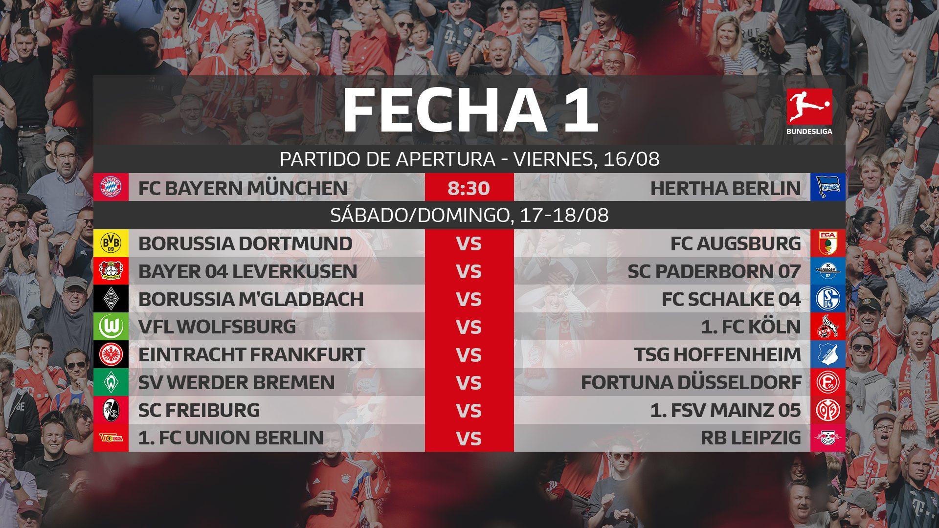 Calendario De La Liga 2020.Bundesliga Este Es El Calendario De La Bundesliga 2019 20