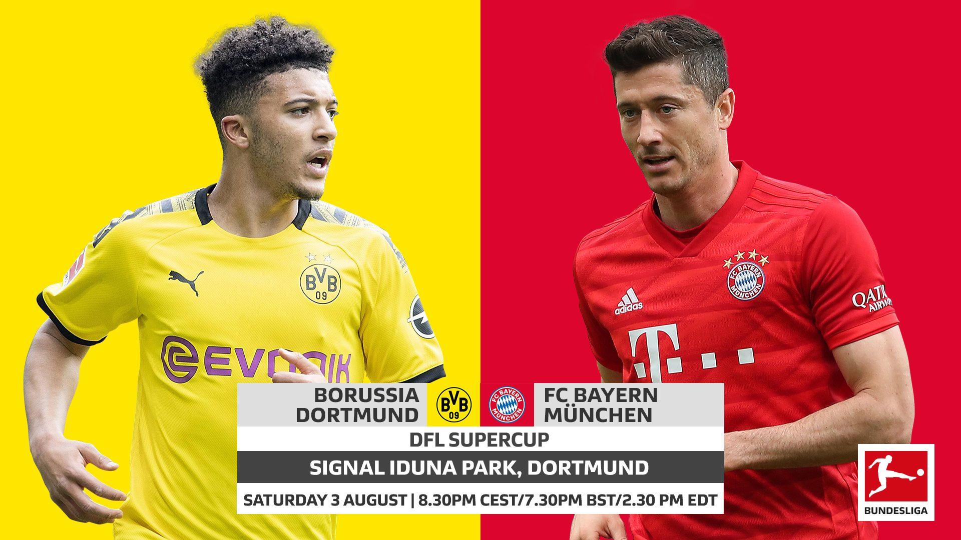 Bundesliga | Borussia Dortmund vs. Bayern Munich: Supercup ...