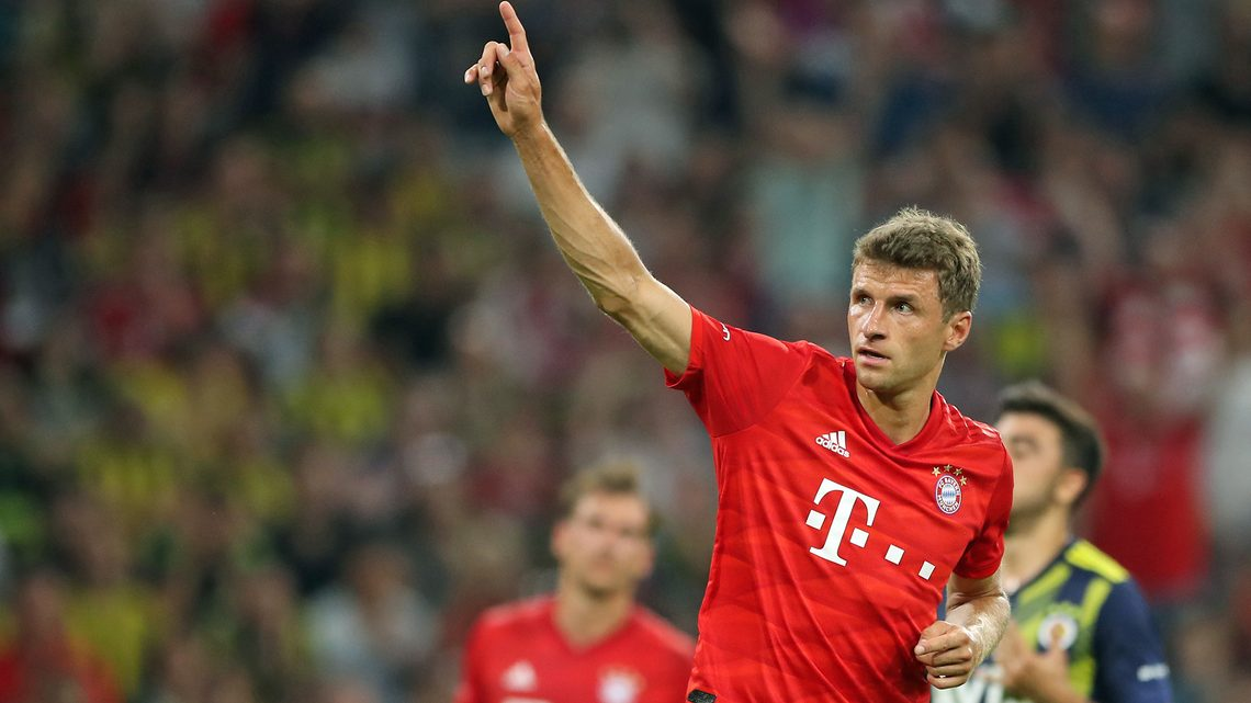 Bundesliga Thomas Müller Hits Hat Trick As Bayern Munich Overwhelm Fenerbahce In Audi Cup Semi Final