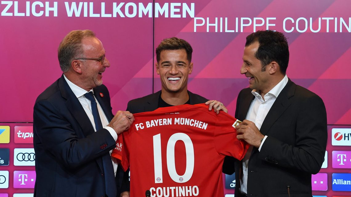 timeless design f799f 398a3 Watch: Coutinho officially unveiled at Bayern Munich