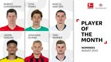 Vote for the Bundesliga's August Player of the Month!