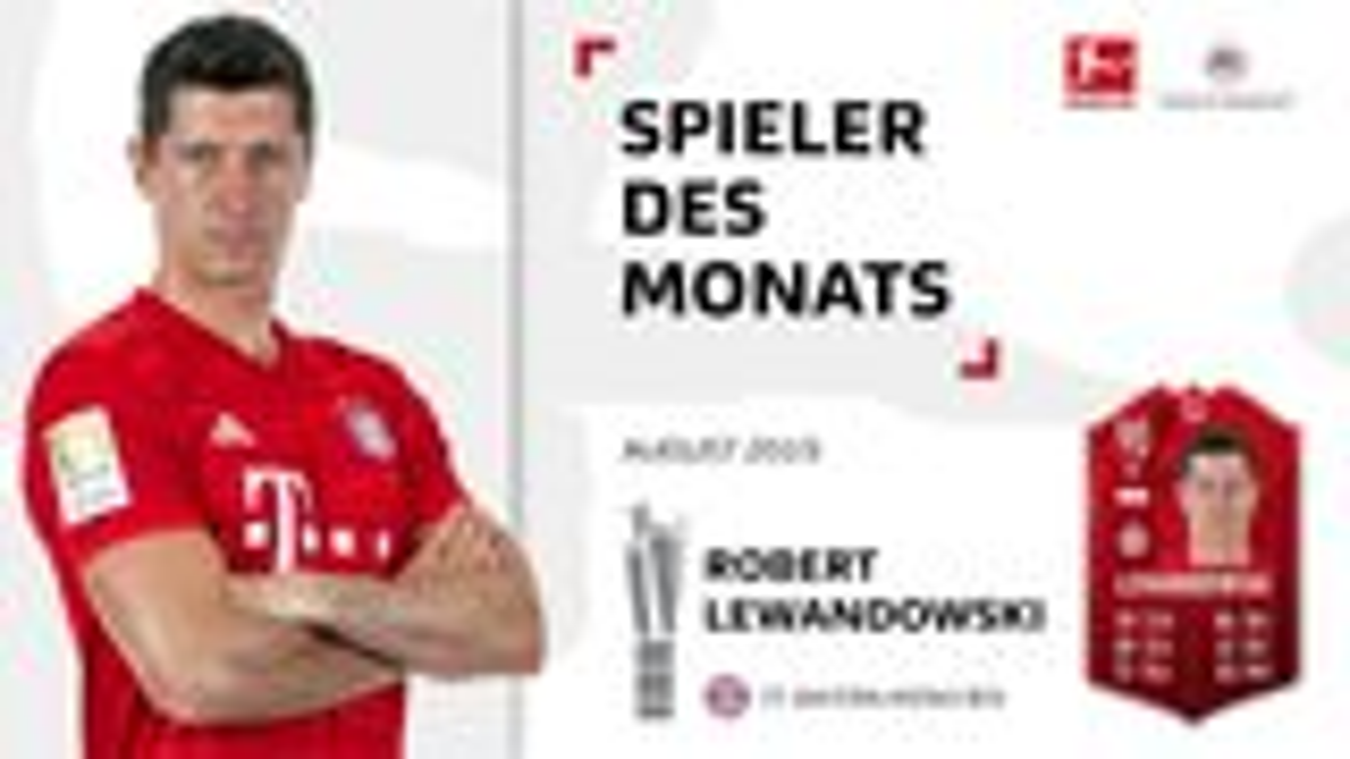 Robert Lewandowski ist Spieler des Monats August