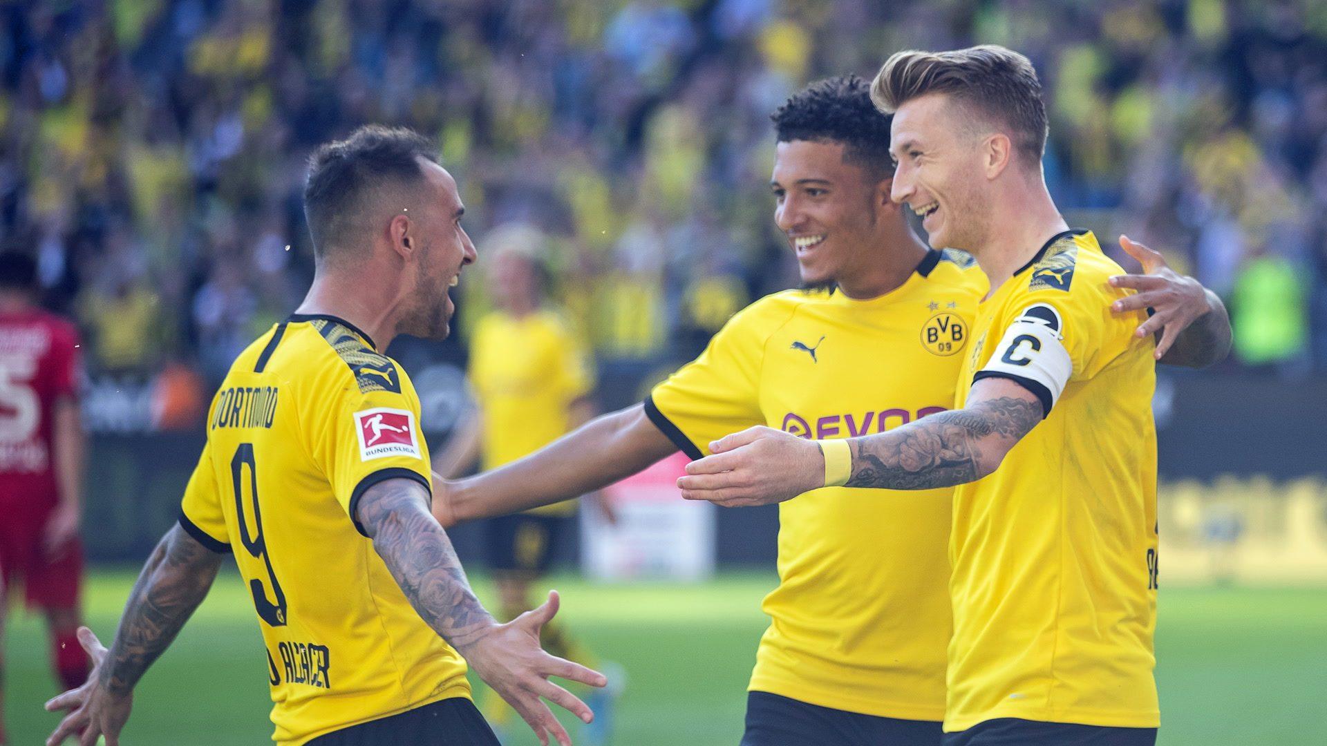 Sancho, Reus and Alcacer sink Leverkusen