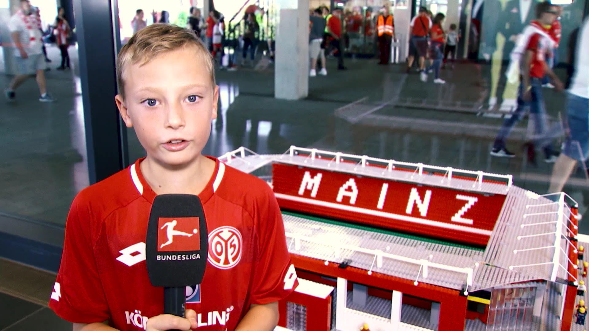 Fan Joe aus England: Das Mainzer LEGO-Stadion