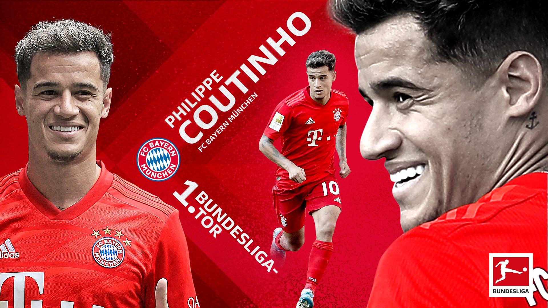 Erstes Bundesliga-Tor für Philippe Coutinho