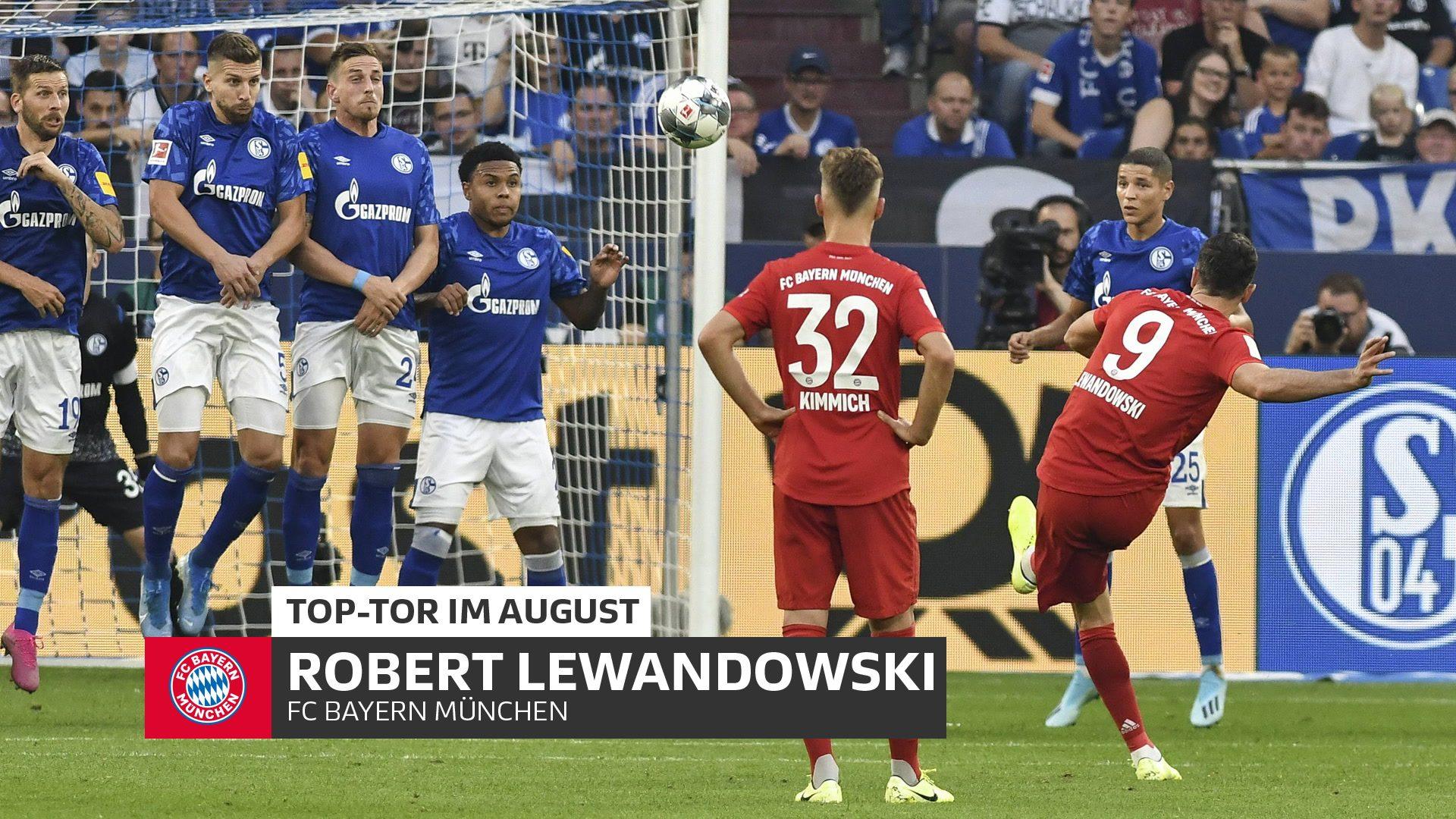 Robert Lewandowski erzielt das Top-Tor im August