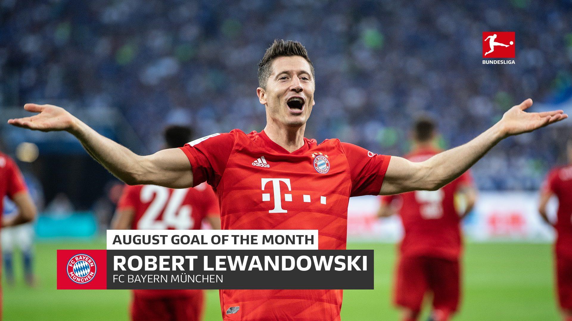 Bayern's Lewandowski wins August Goal of the Month!