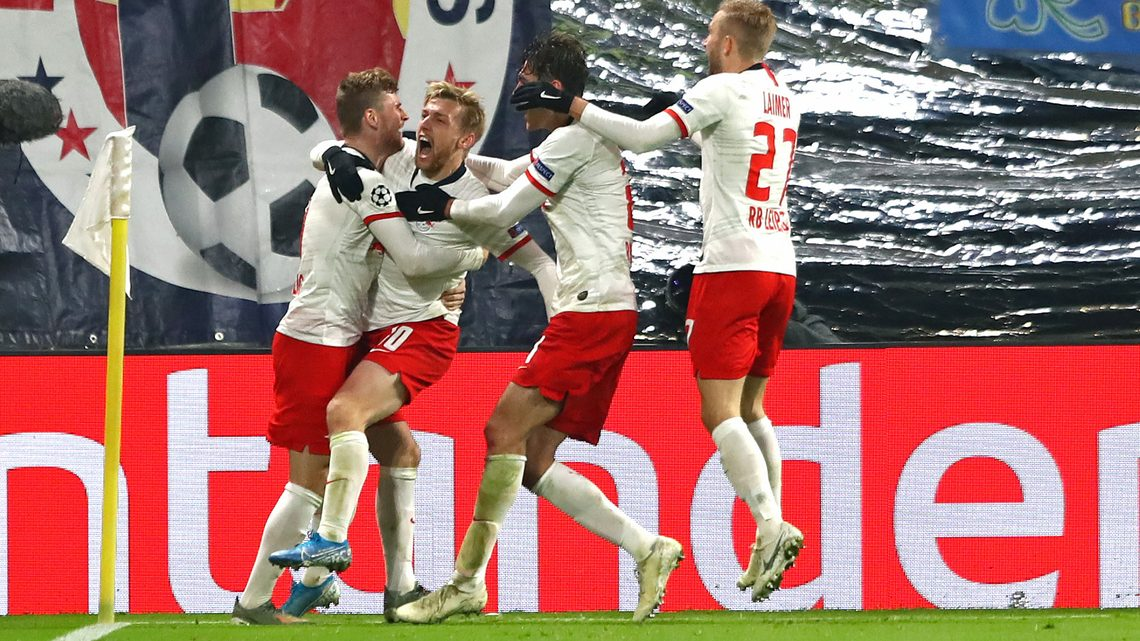 Bundesliga Emil Forsberg Double Sends Rb Leipzig Into The Uefa Champions League Round Of 16 At Benfica S Expense