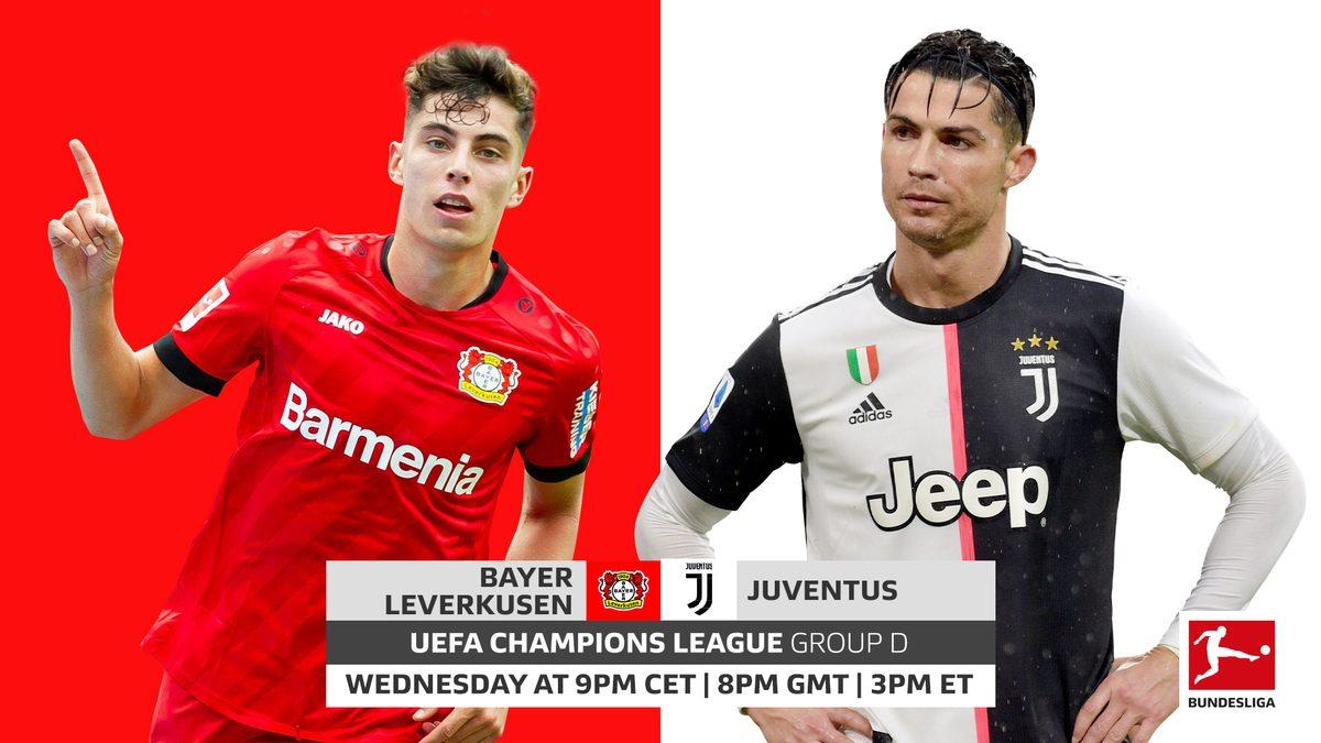 Xem lại Leverkusen vs Juventus, Champions League – 12/12/2019