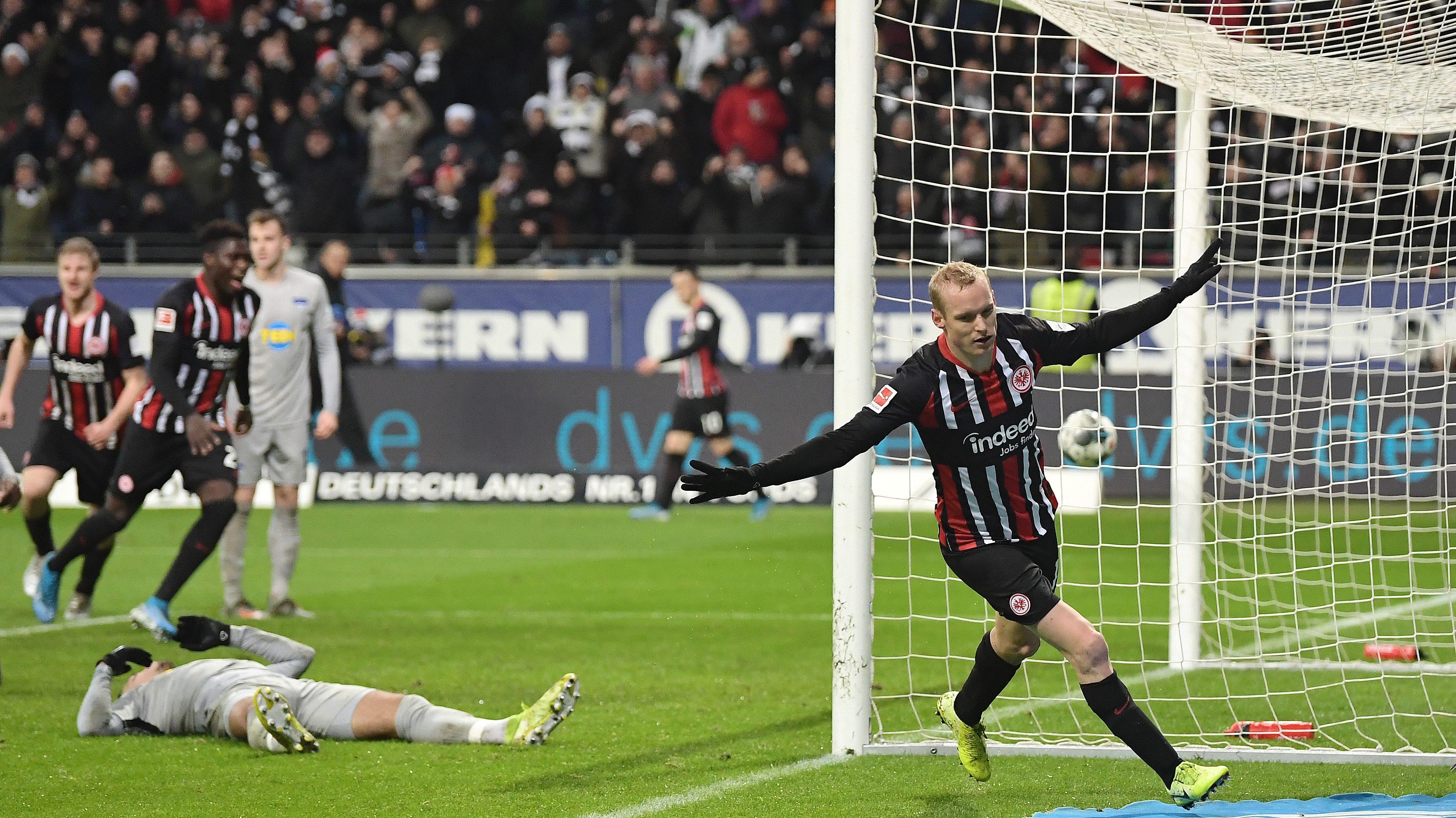 Umkämpftes 2:2 zwischen Frankfurt und Hertha