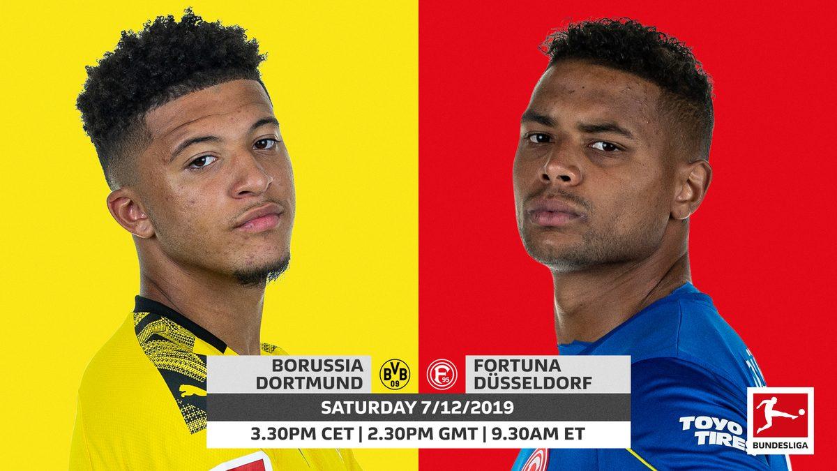 Xem lại Dortmund vs Dusseldorf, Bundesliga – 7/12/2019