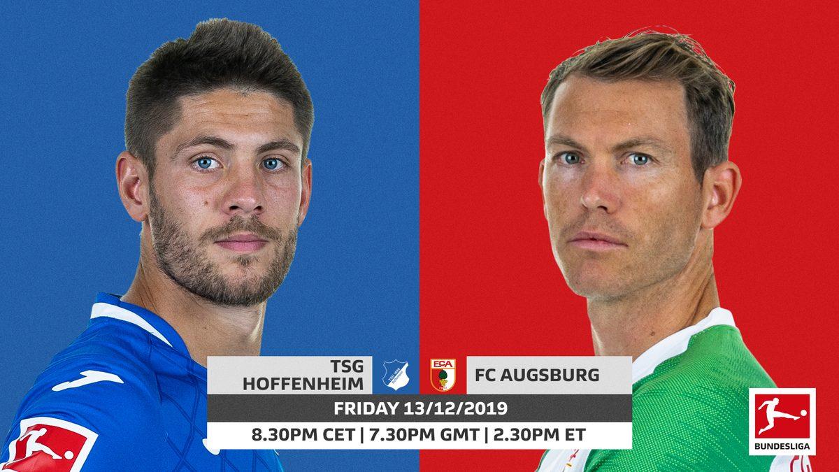Xem lại Hoffenheim vs Augsburg, Bundesliga – Vòng 15 – 14/12/2019