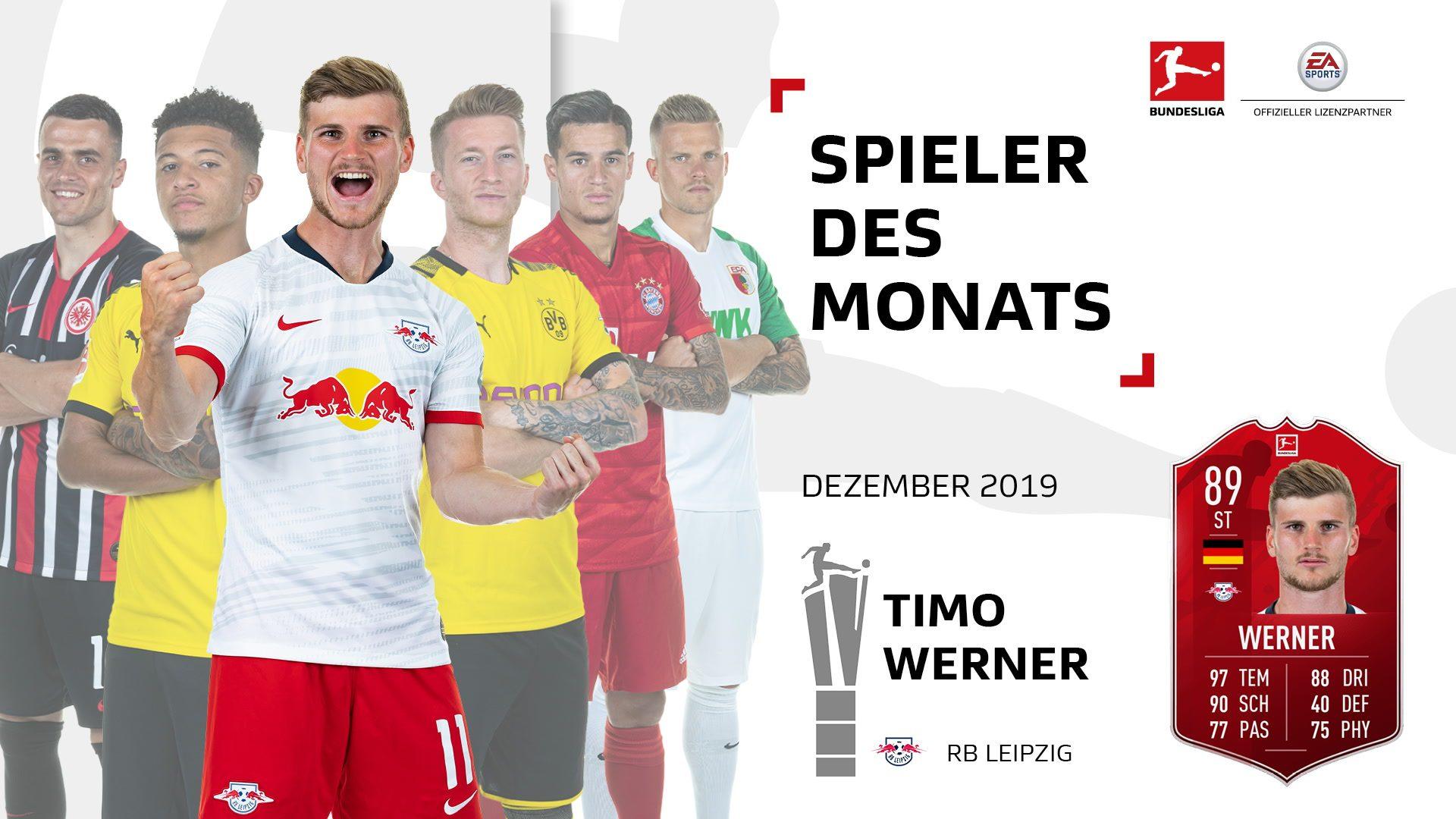 Timo Werner ist der Spieler des Monats Dezember