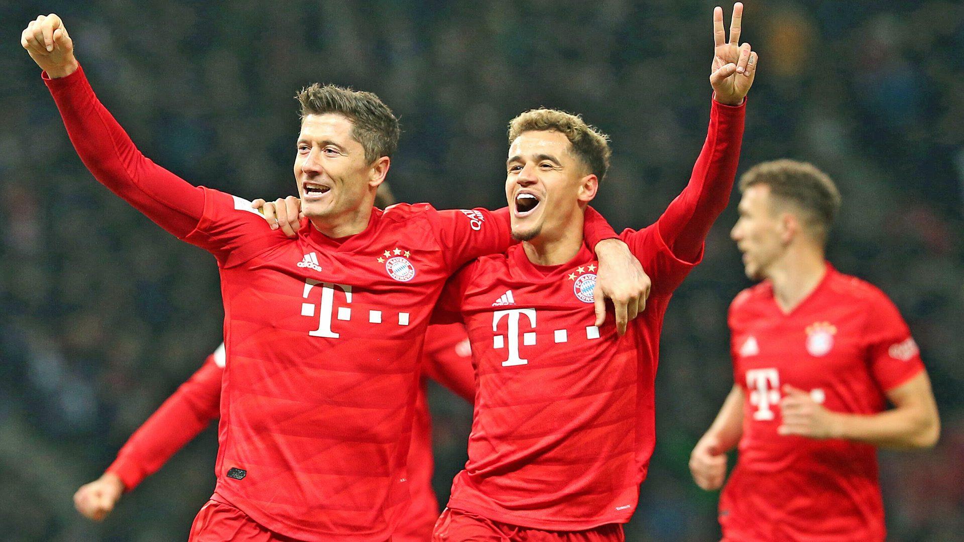 Bayern put four past Hertha in Berlin
