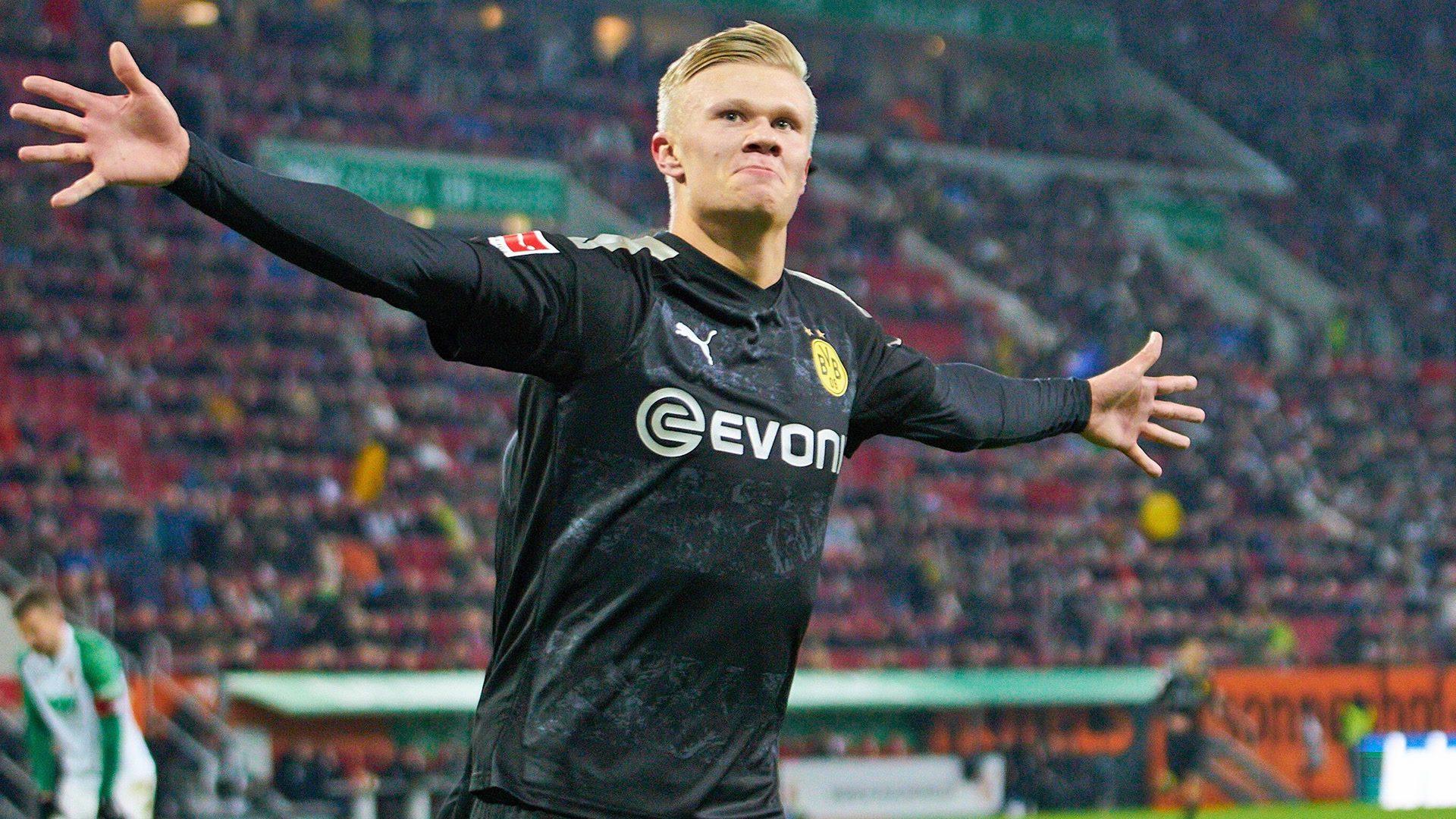 Dortmund's Haaland hits debut hat-trick in Augsburg
