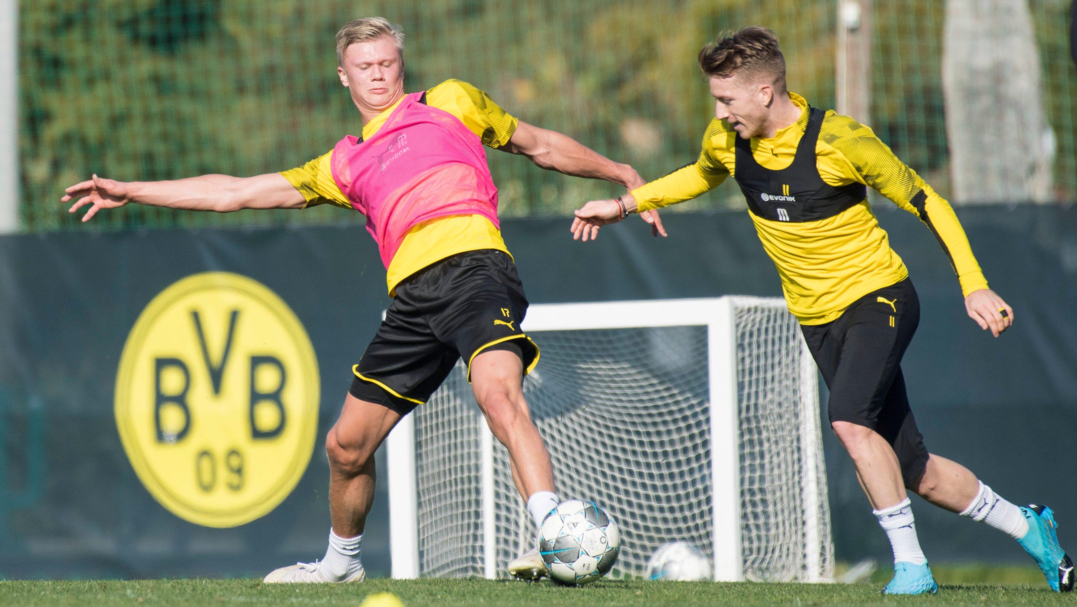 Bundesliga Erling Haaland And Marco Reus Return To Full Borussia Dortmund Training