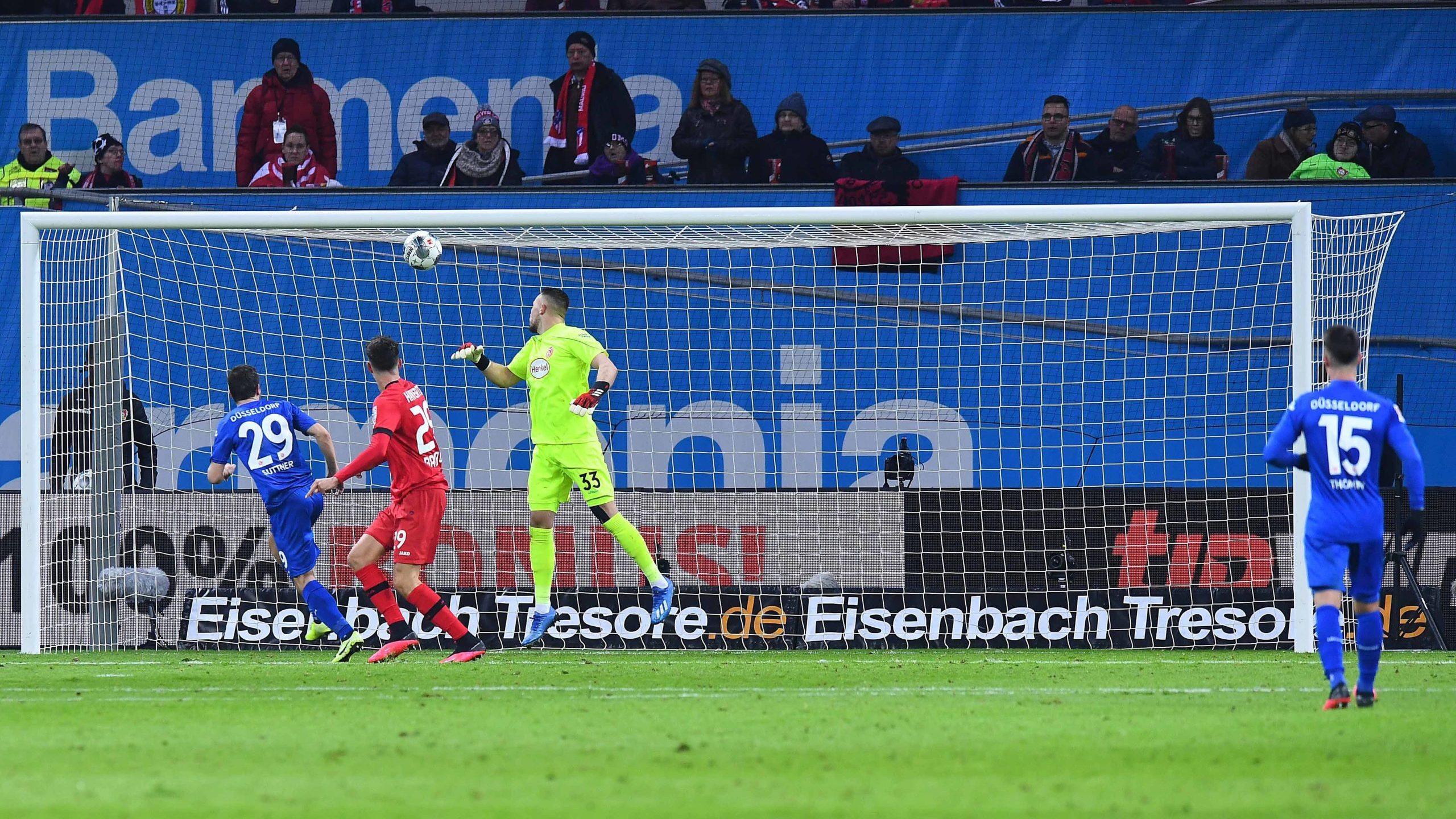 Leverkusen schlägt Düsseldorf mit 3:0