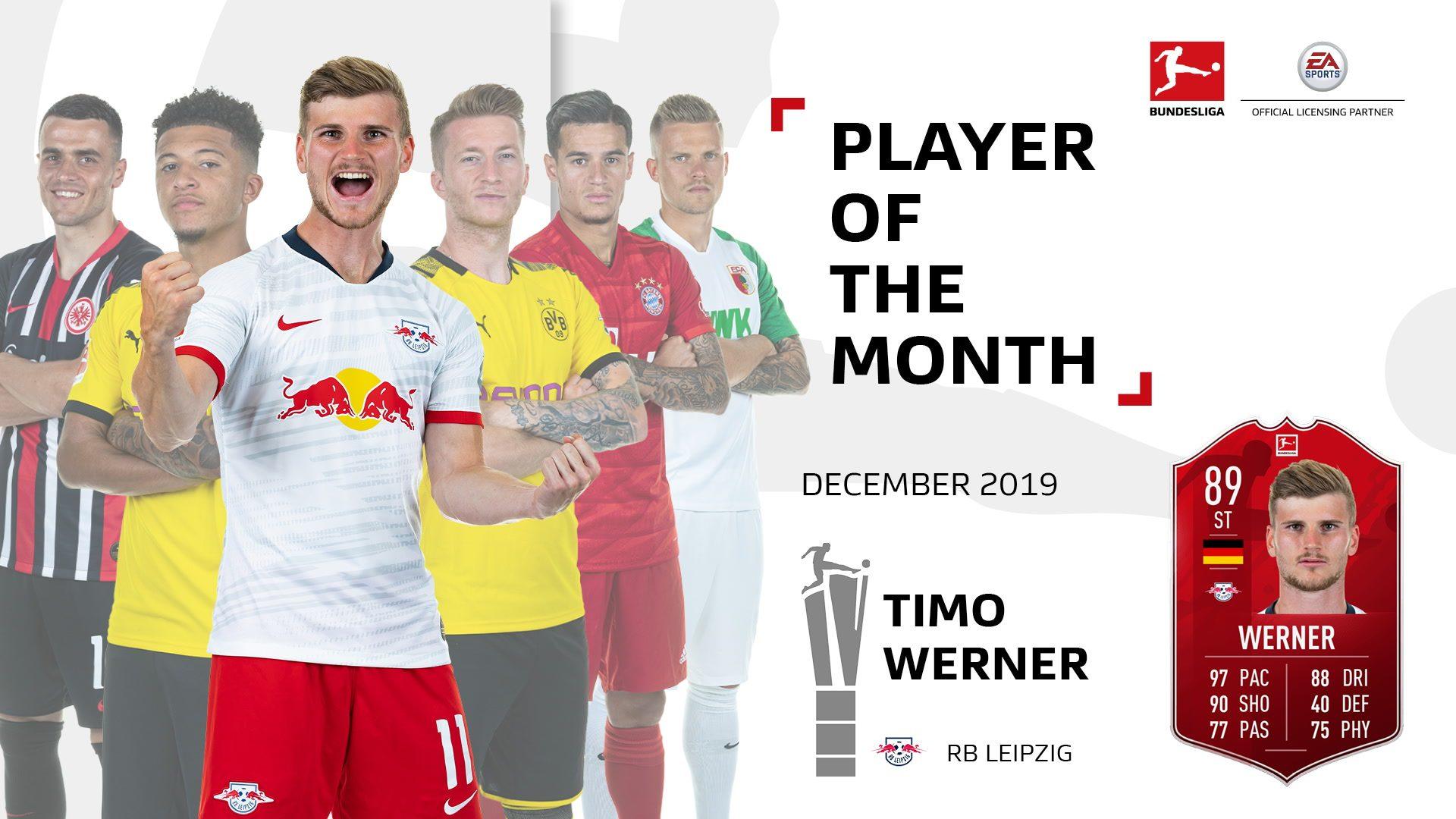 Werner named December Player of the Month