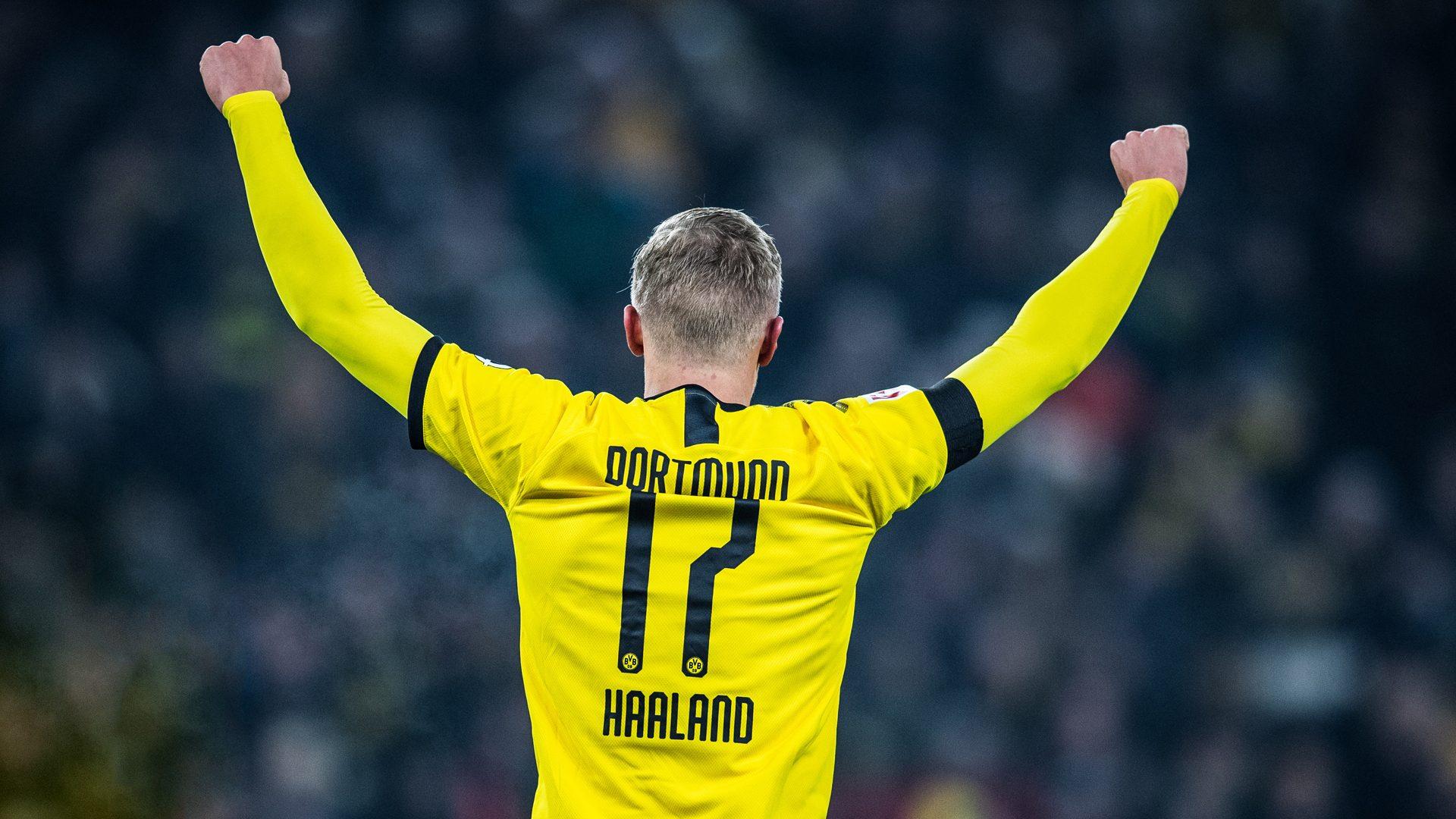 Erling Haaland's record-breaking Bundesliga start in numbers