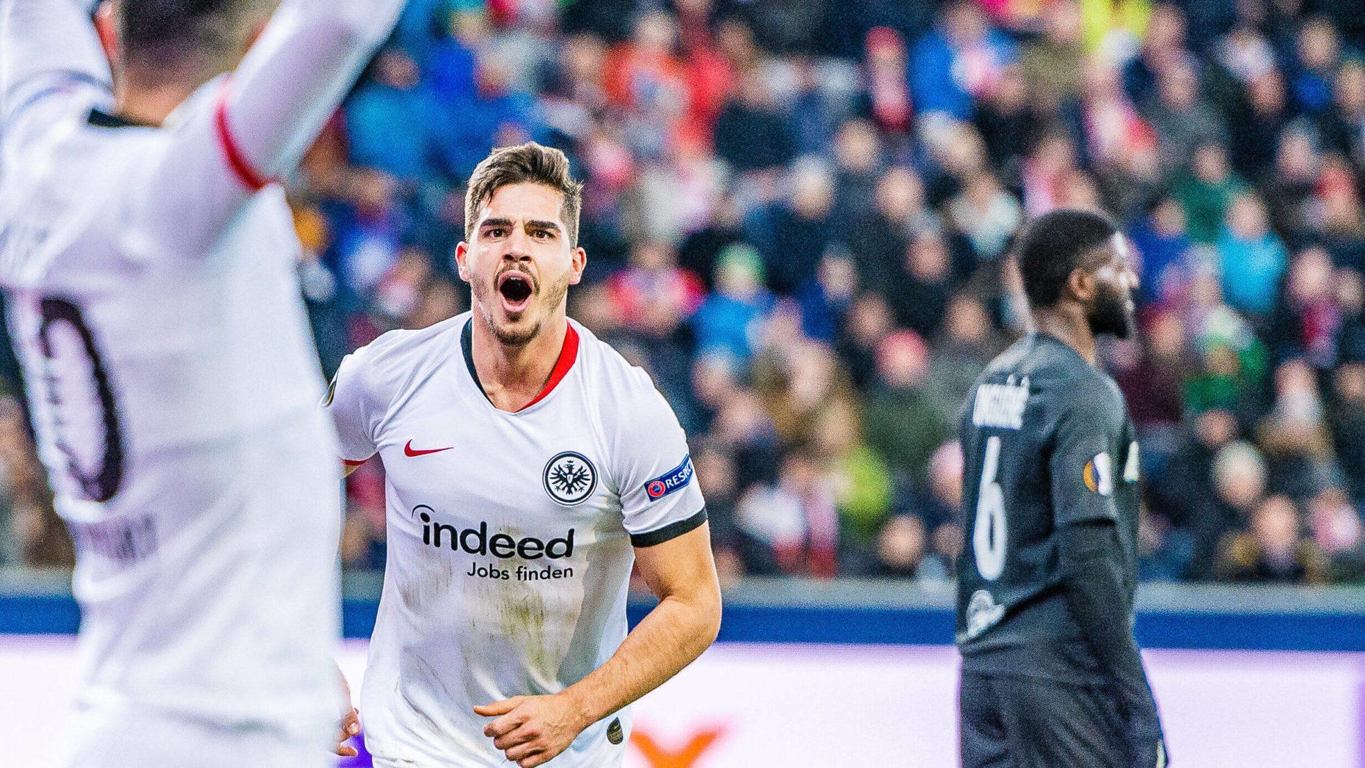 Bundesliga Andre Silva Brace Enures Eintracht Frankfurt Overcome Red Bull Salzburg To Reach Uefa Europa League Last 16
