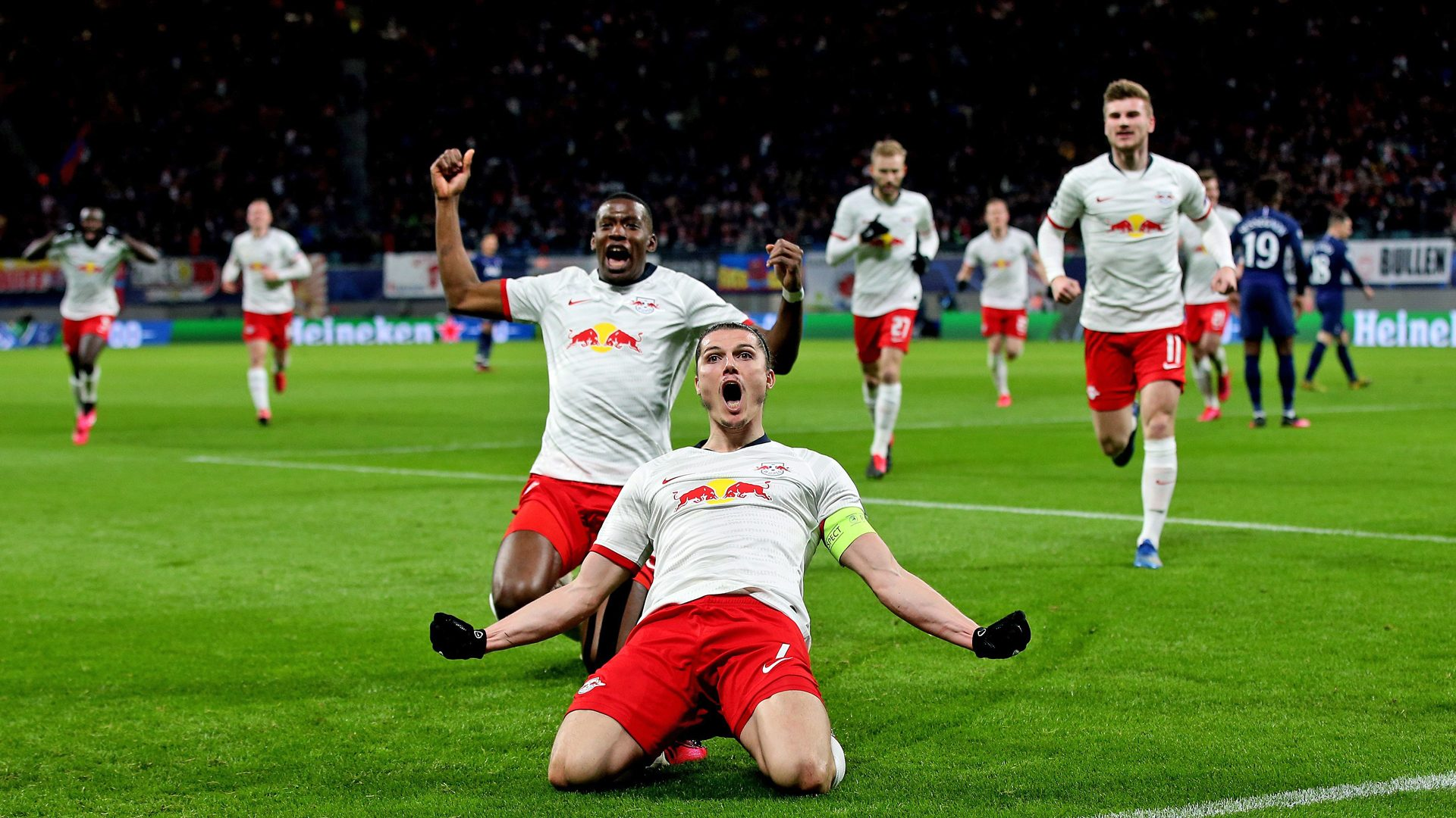 Bundesliga Marcel Sabitzer Inspired Rb Leipzig Ease Into Champions League Quarter Finals With Tottenham Hotspur Demolition