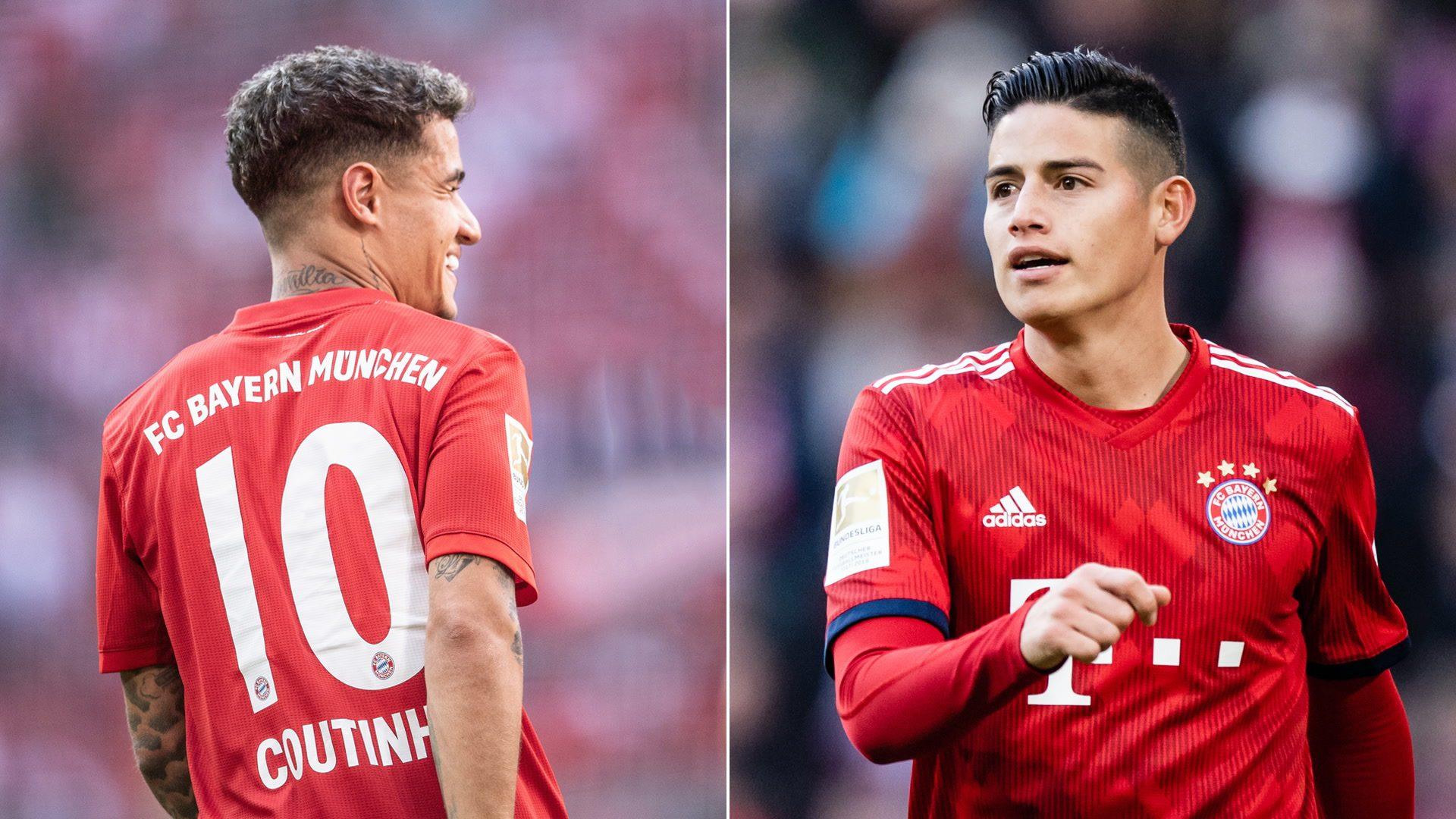 Bundesliga Philippe Coutinho Vs James Rodriguez How Do Bayern Munich S Recent Latin No 10s Compare