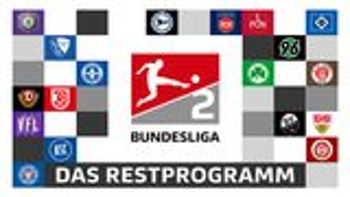 2. Bundesliga: Das Restprogramm aller Clubs