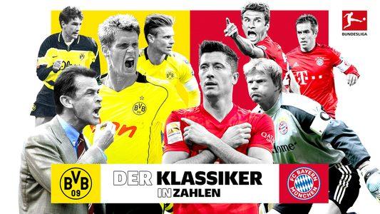 Der Klassiker in Zahlen: Dortmund gegen Bayern