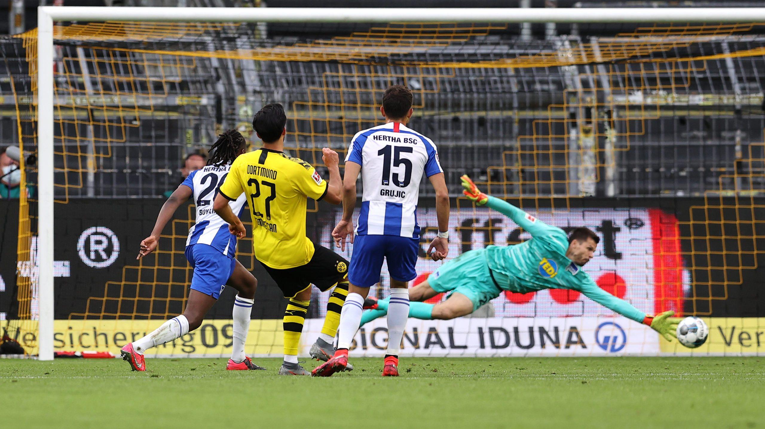 Dortmund mit Arbeitssieg gegen Hertha