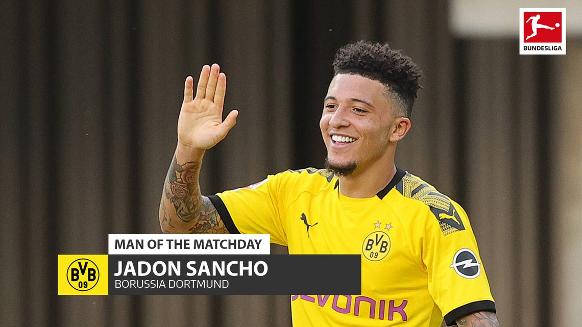 Bundesliga Jadon Sancho Borussia Dortmund S Hat Trick Hero And Md29 S Man Of The Matchday