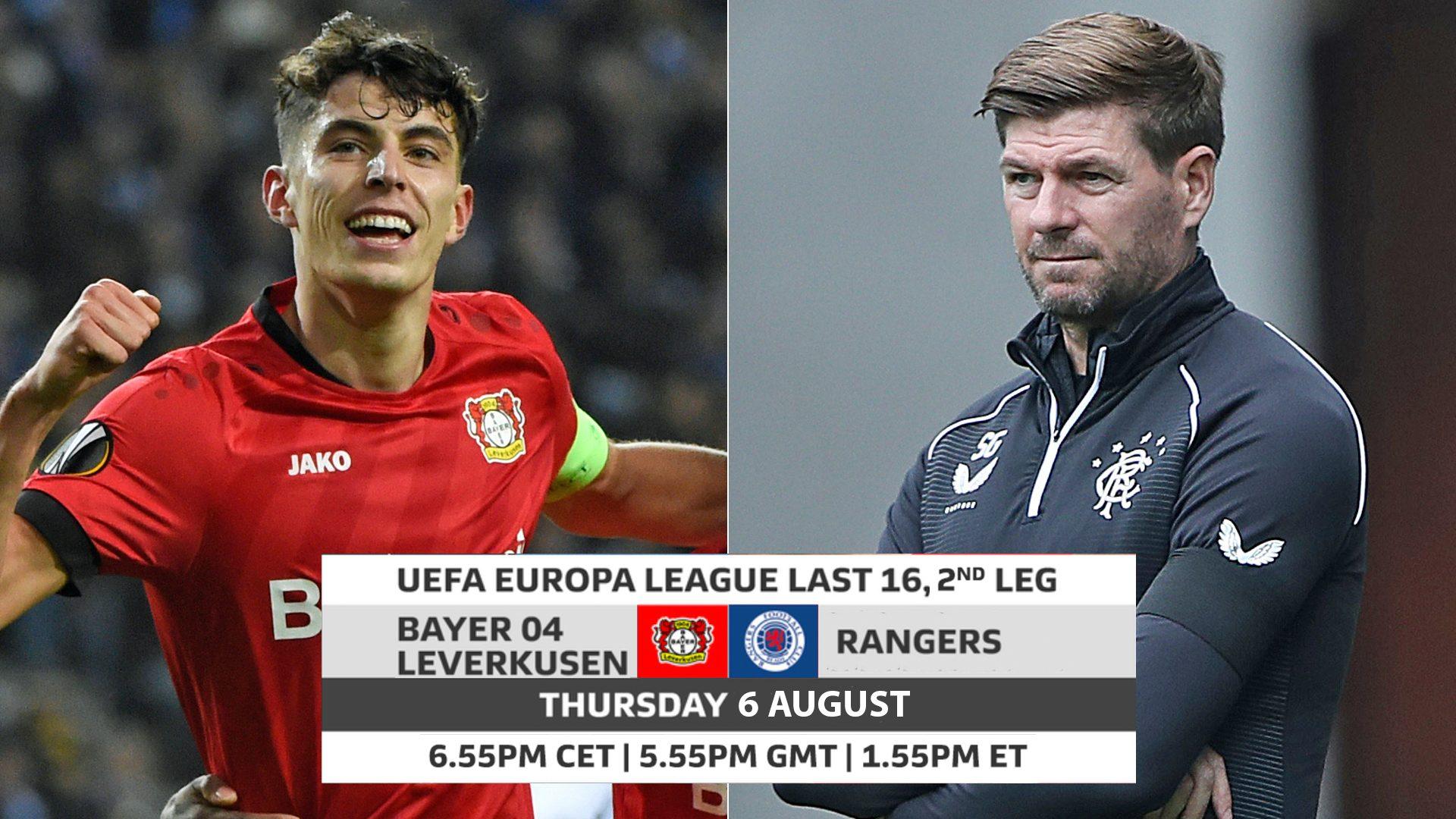 Xem lại bóng đá Leverkusen vs Glasgow Rangers, Europa League – 08/08/2020