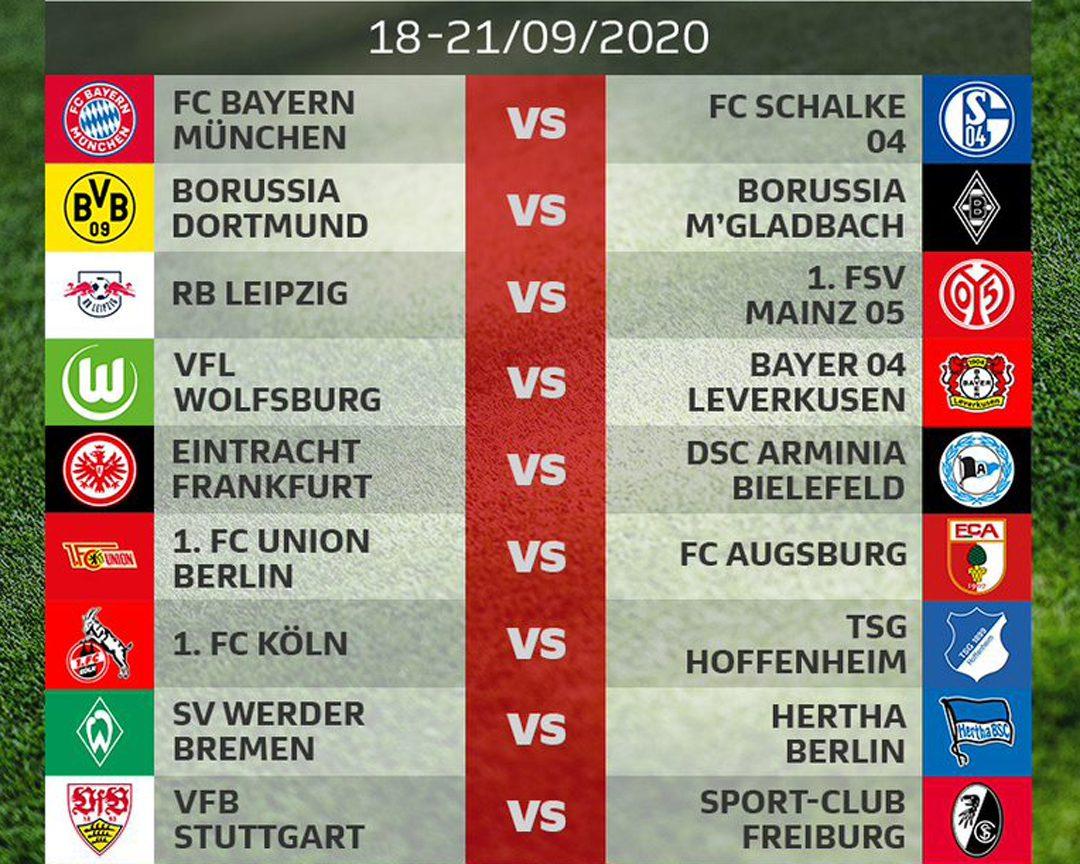 Bundesliga 2020 21 Season Dfl Publishes Bundesliga And Bundesliga 2 Fixture Lists