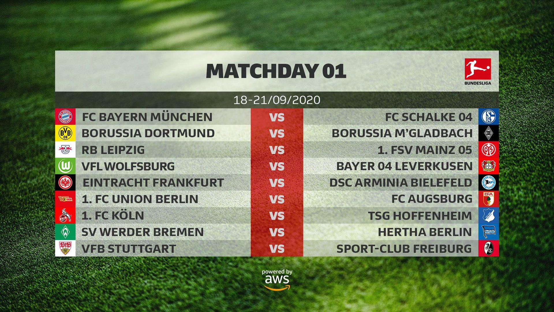 Bundesliga 2020 21 Schedule Release Bundesliga Fixture List Overview