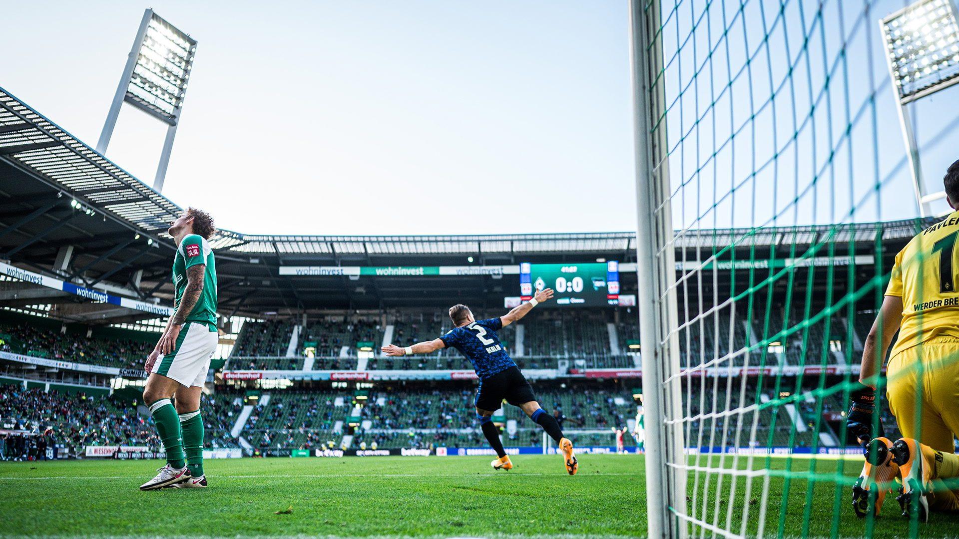 Hertha BSC gewinnt 4:1 beim SV Werder Bremen