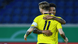Sancho sparkles on Reus comeback as Dortmund progress