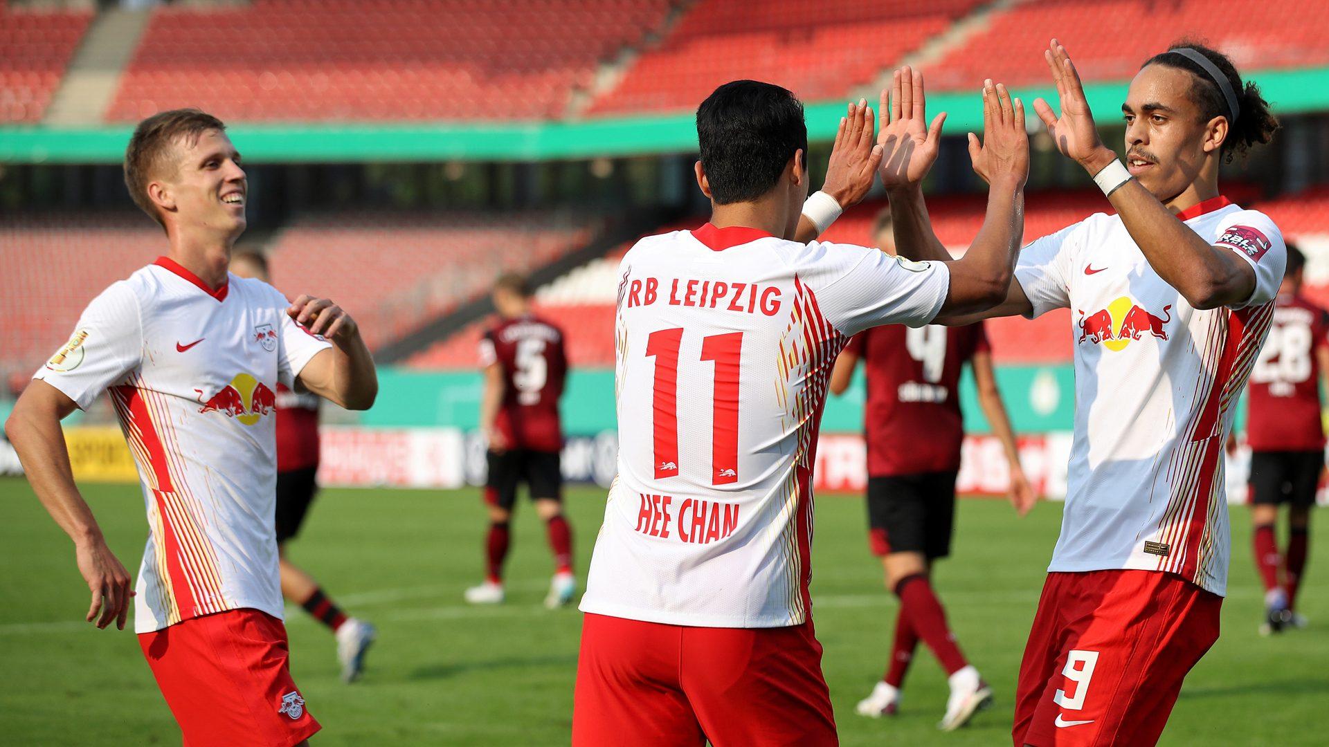 Bundesliga Hwang Hee Chan Scores Debut Goal For Rb Leipzig In Nuremberg
